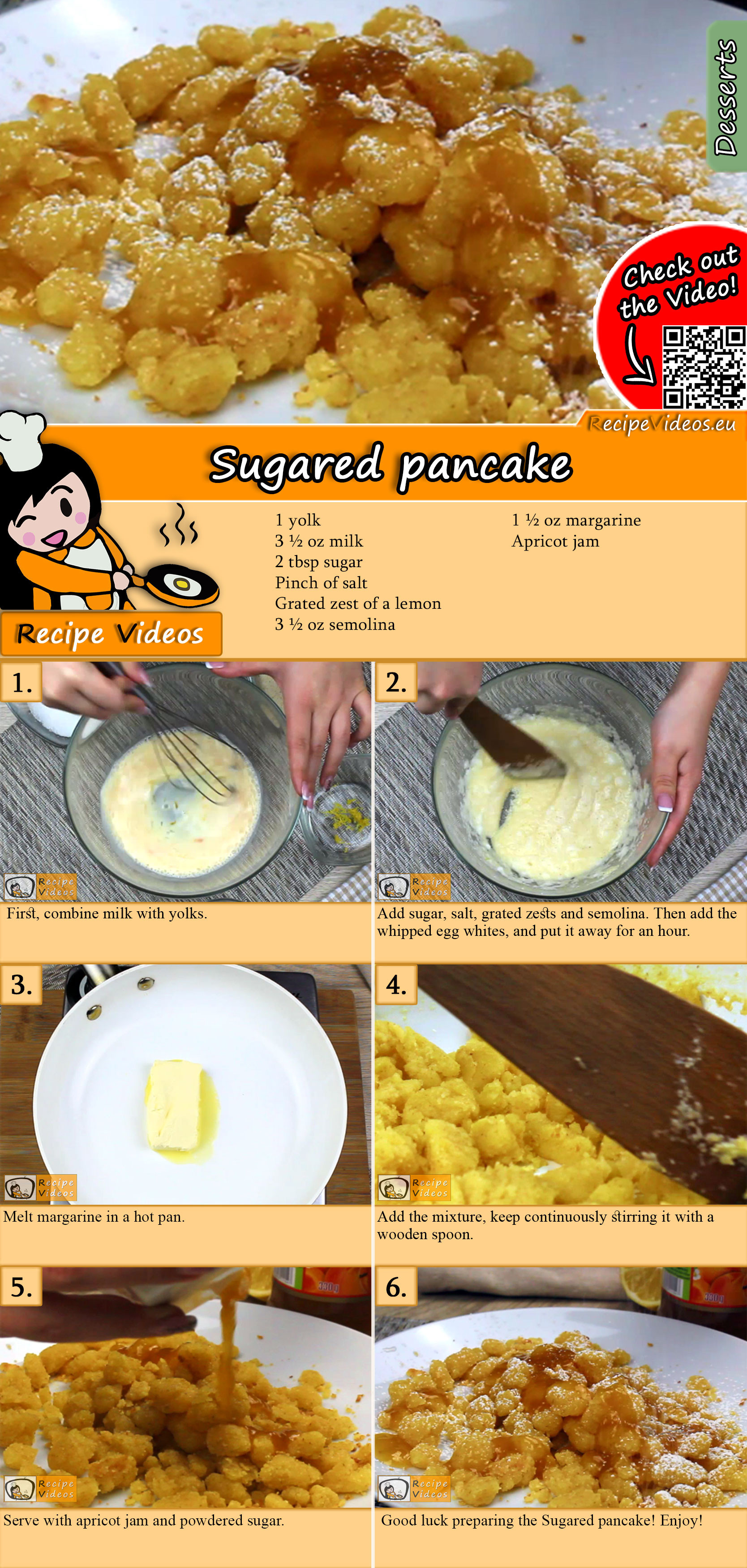 Sugared pancake recipe with video
