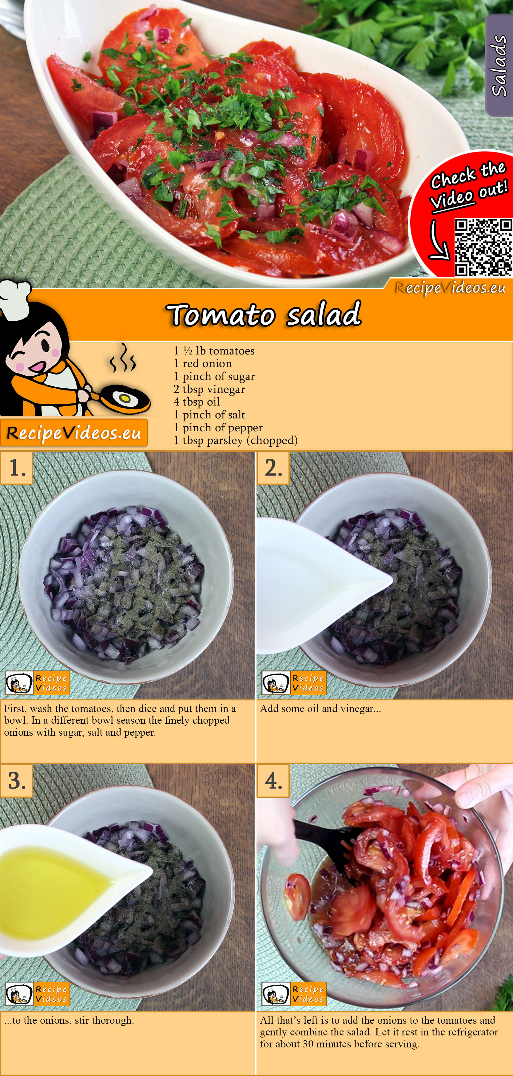 Tomato salad recipe with video