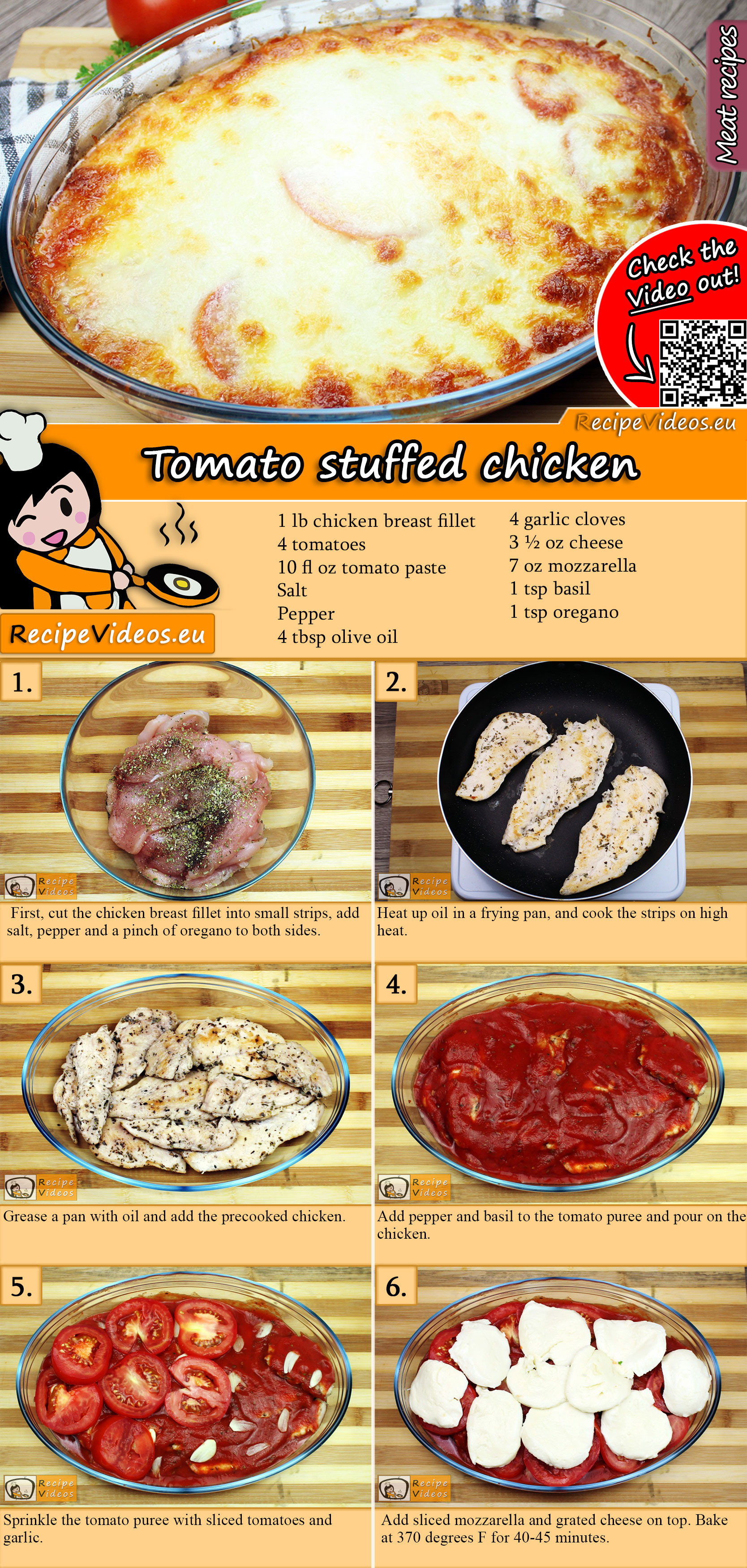 Tomato stuffed chicken recipe with video