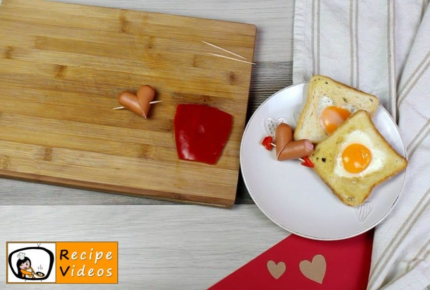 Valentine's Day Breakfast recipe, prepping Valentine's Day Breakfast step 2