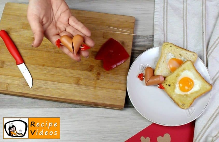 Valentine's Day Breakfast recipe, prepping Valentine's Day Breakfast step 3