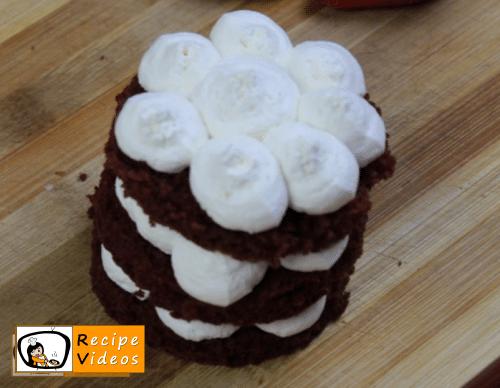 Valentine's Day Mini Red Velvet Fruit Cake recipe, how to make Valentine's Day Mini Red Velvet Fruit Cake step 12
