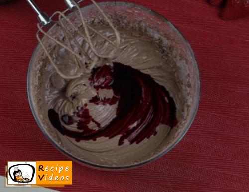 Valentine's Day Mini Red Velvet Fruit Cake recipe, how to make Valentine's Day Mini Red Velvet Fruit Cake step 7