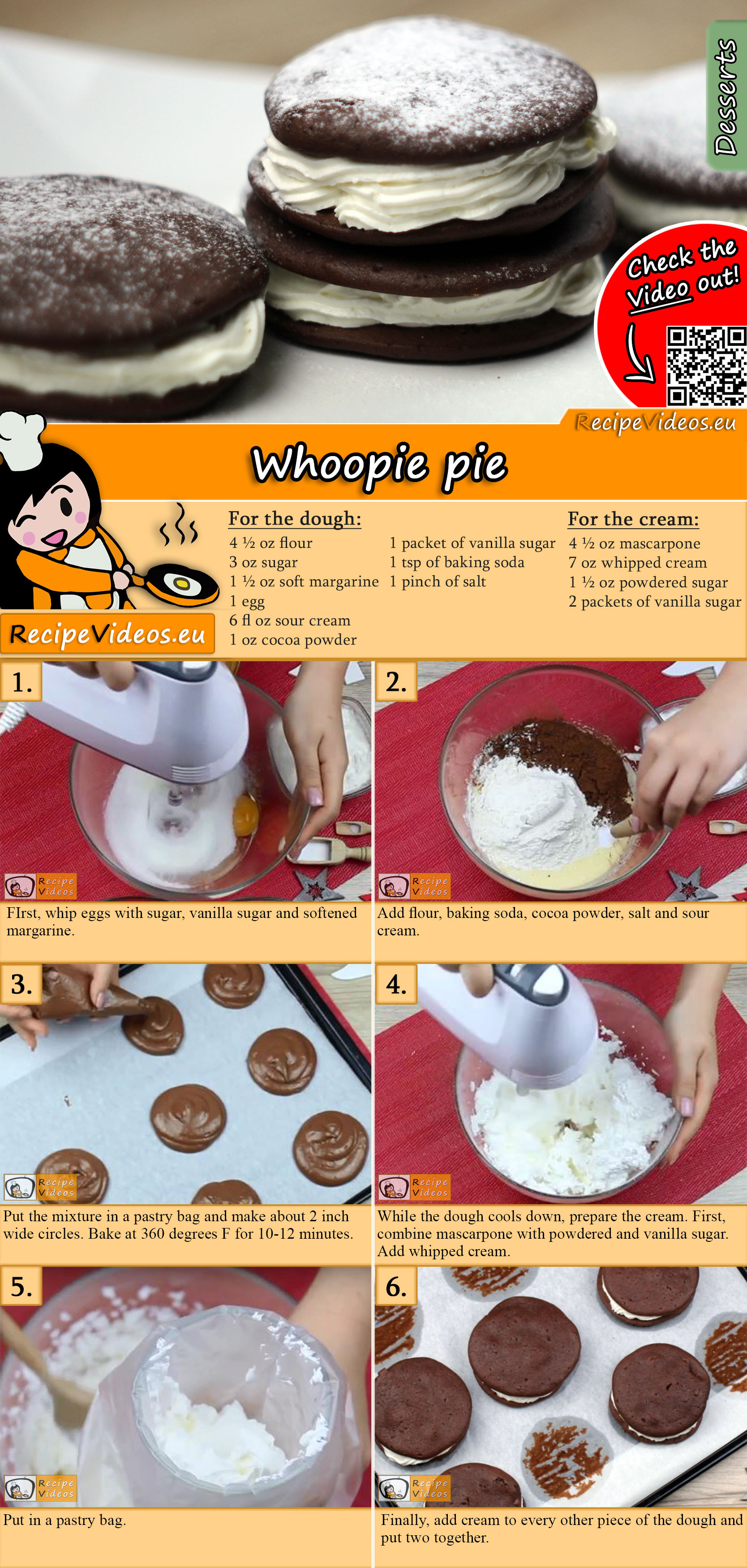 Whoopie pie recipe with video