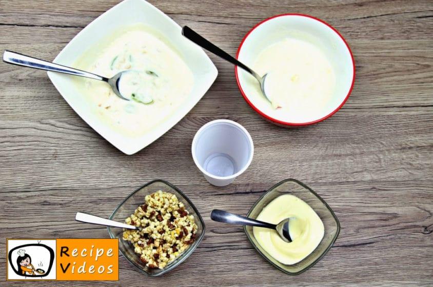 Yogurt Ice Cream with Fruits recipe, prepping Yogurt Ice Cream with Fruits step 1