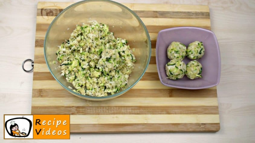 Zucchini Balls With Cheese recipe, prepping Zucchini Balls With Cheese step 4