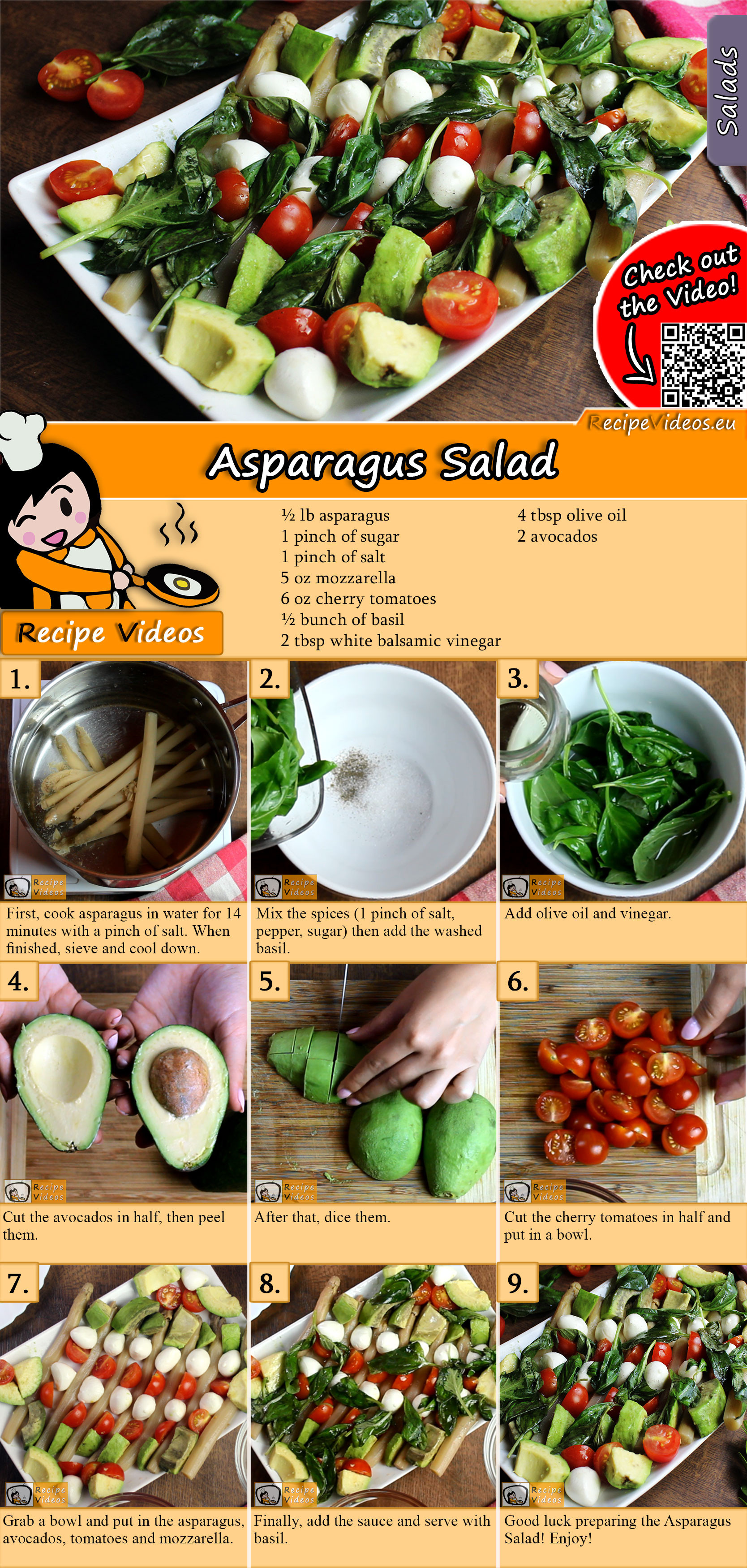 Asparagus salad recipe with video