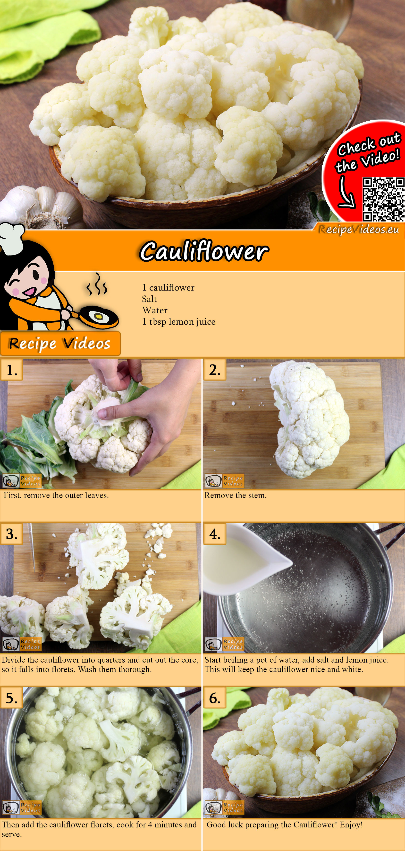 Cauliflower recipe with video