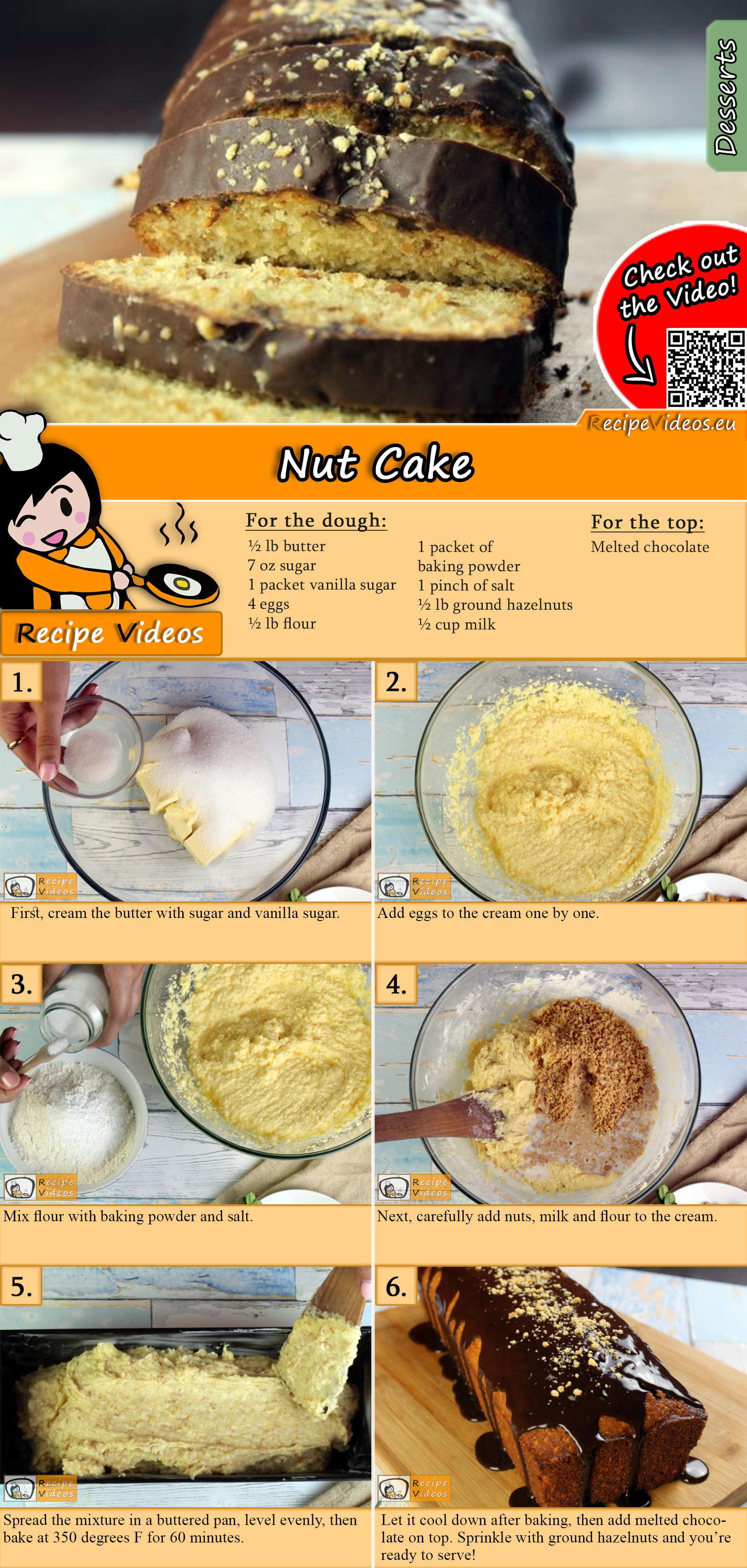 Nut cake recipe with video