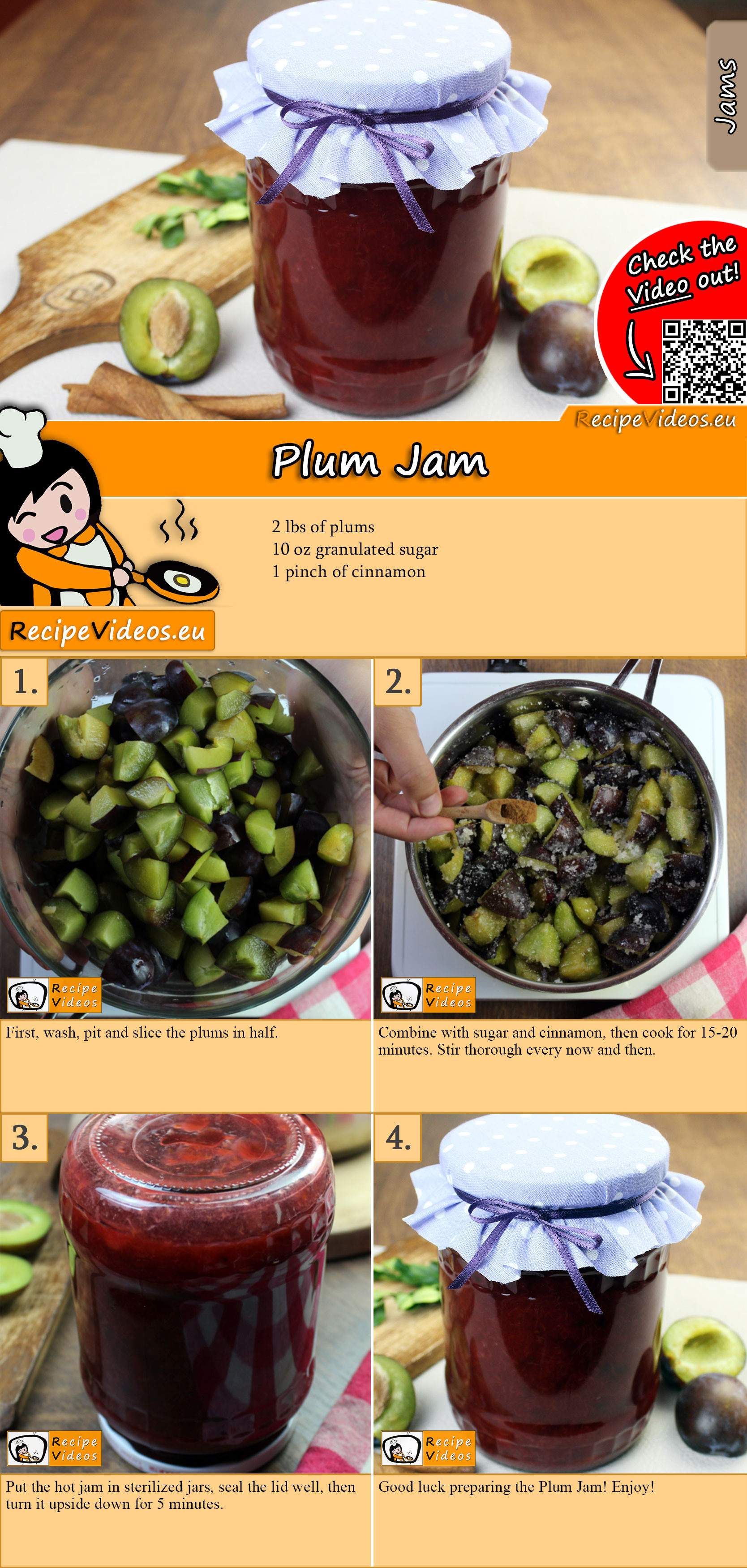 Plum Jam recipe with video