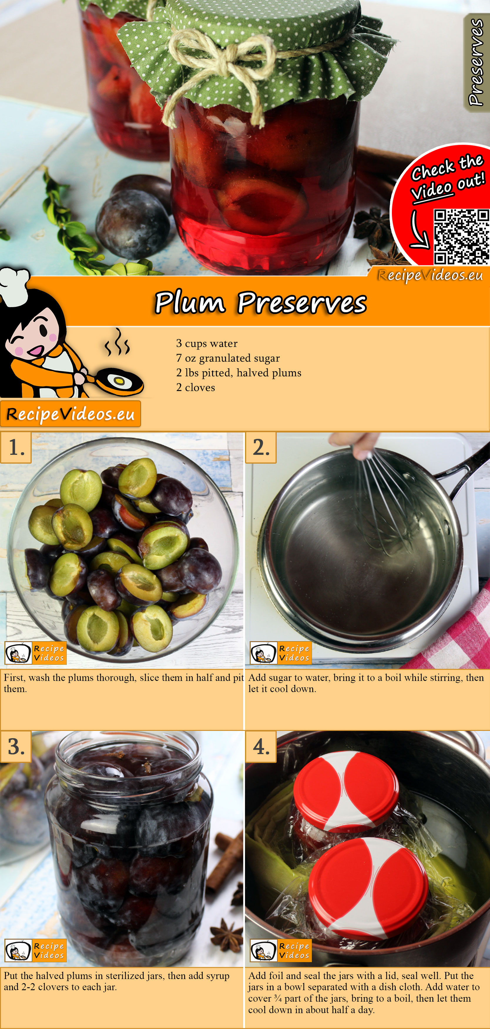 Plum Preserves recipe with video