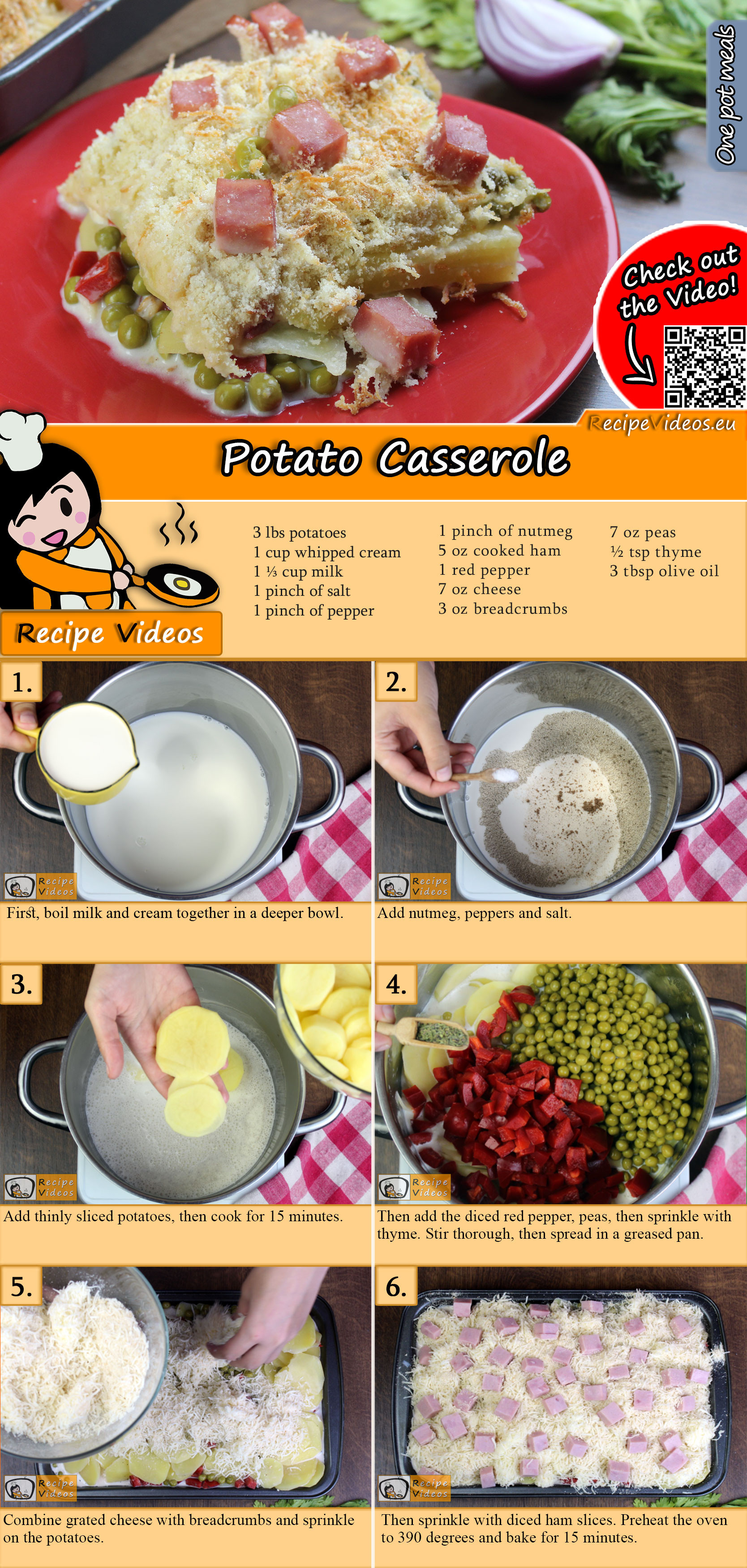 Potato casserole recipe with video