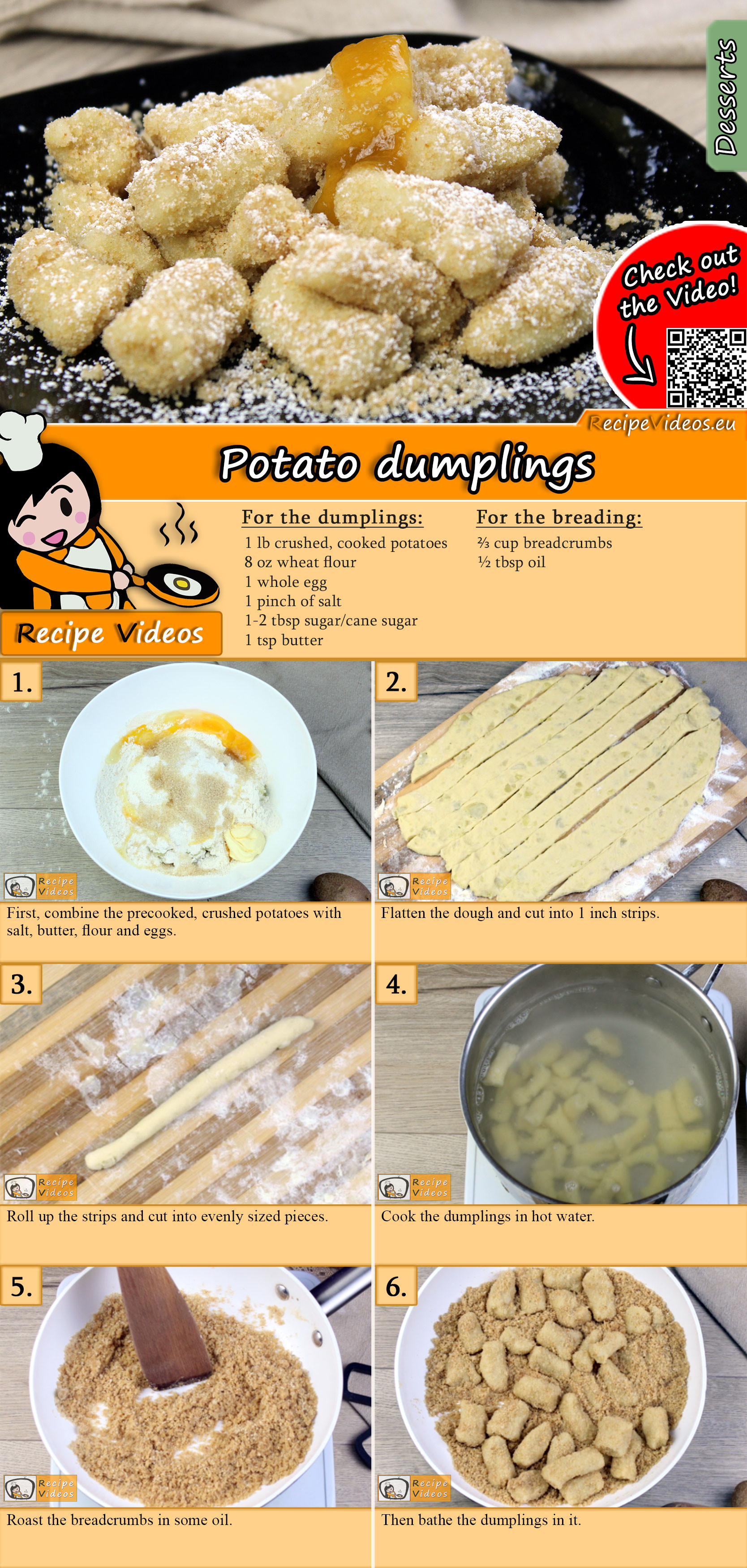 Potato dumplings recipe with video