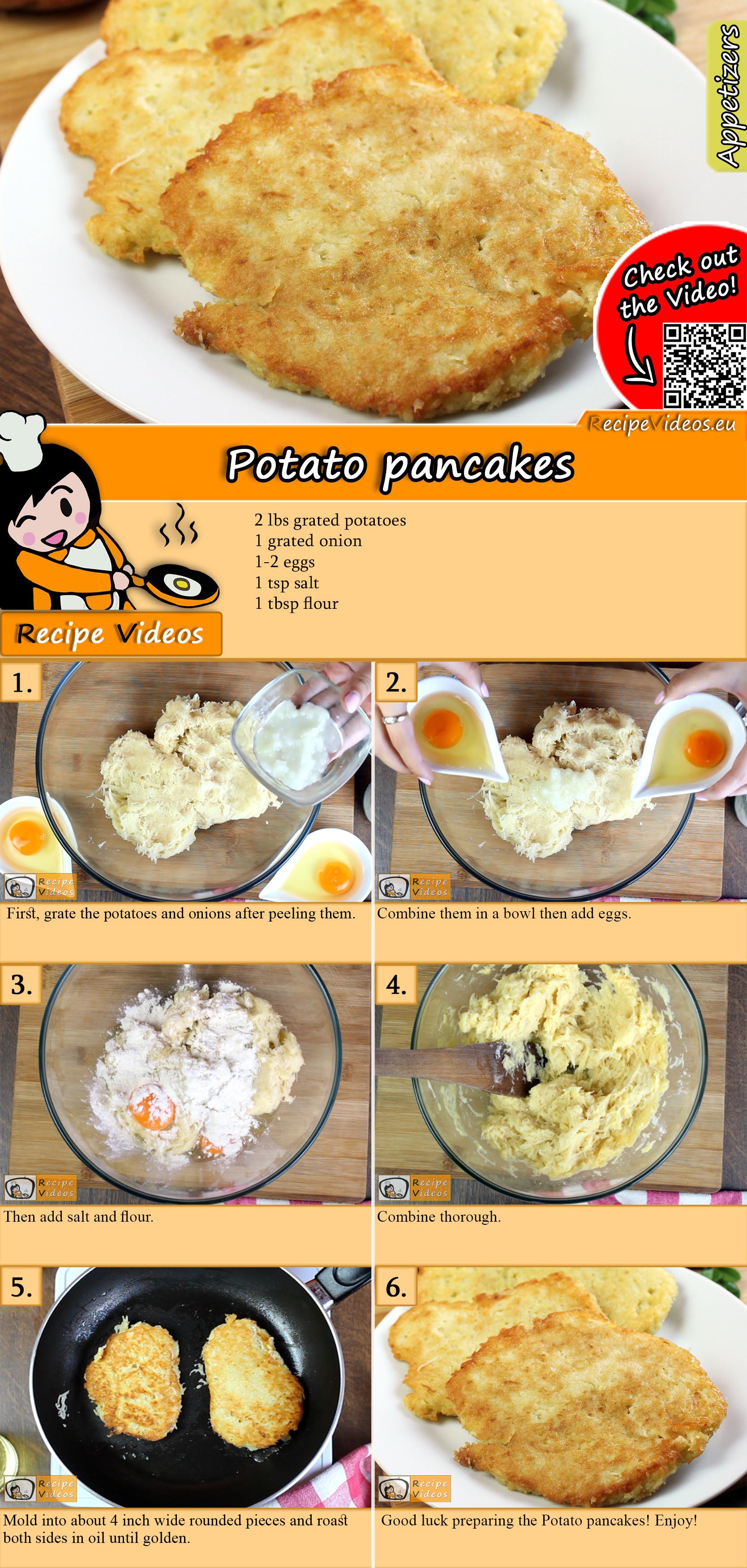 Potato pancakes recipe with video