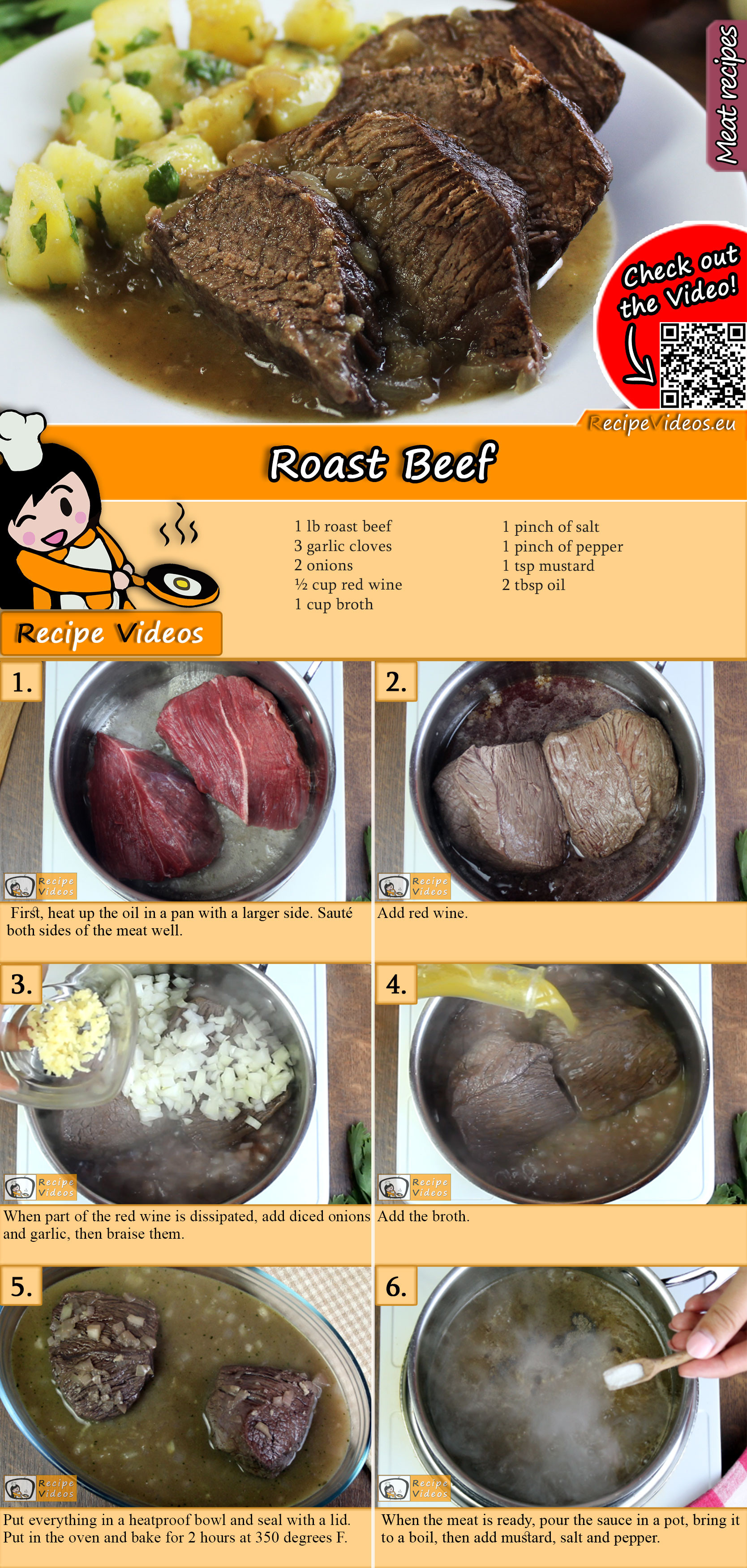 Roast Beef recipe with video
