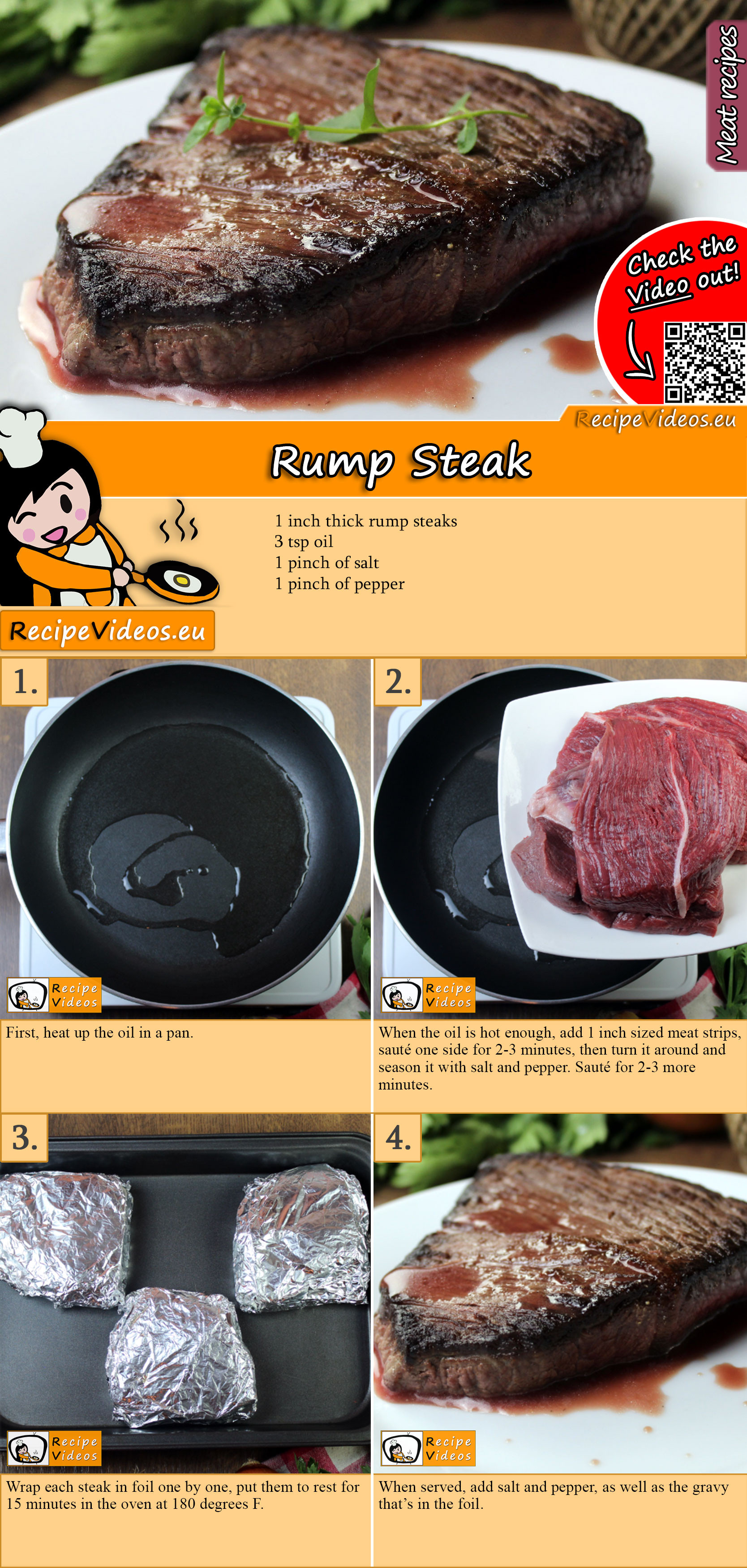 Rump Steak recipe with video