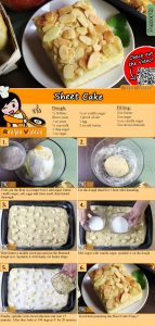 Sheet cake recipe with video