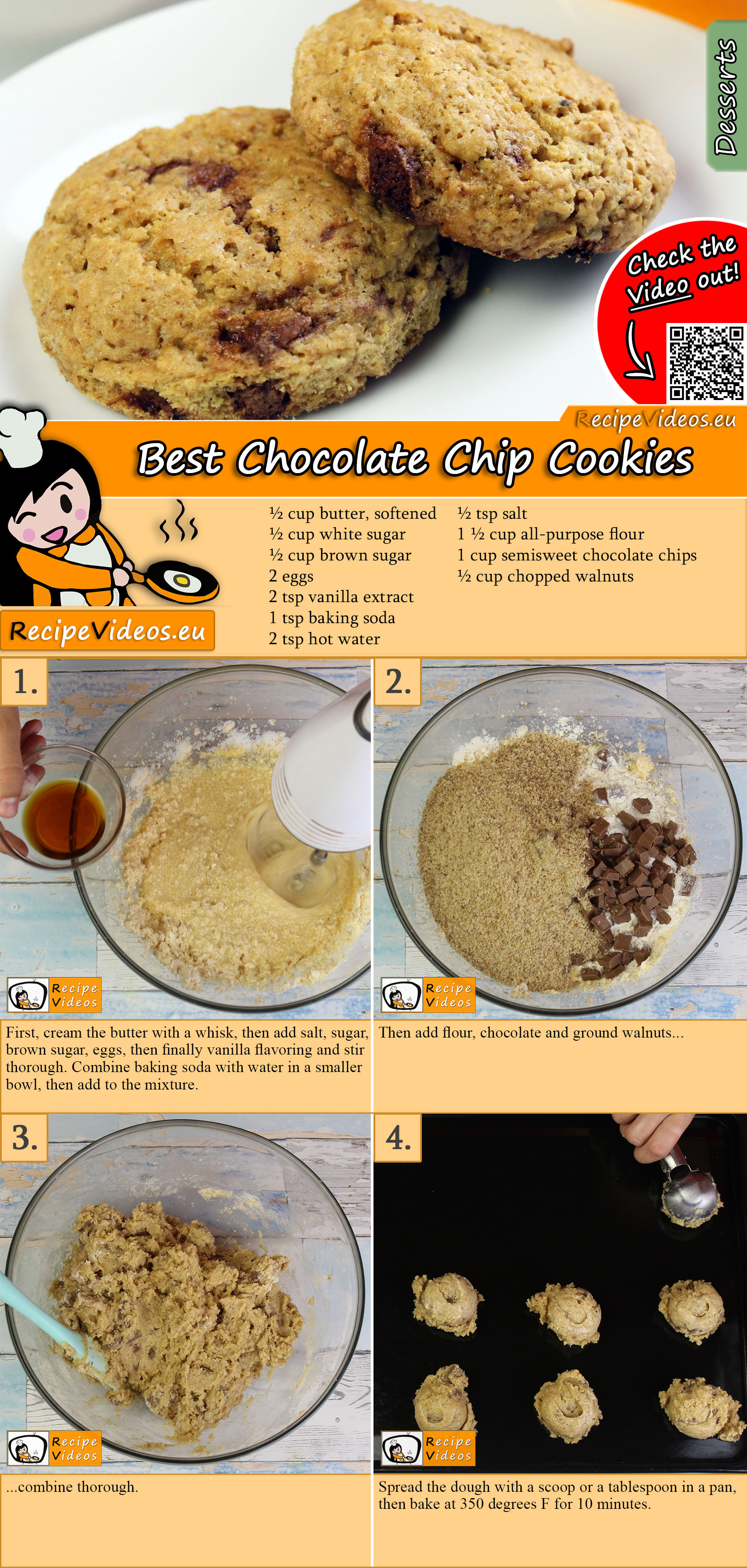 Best Chocolate Chip Cookies recipe with video
