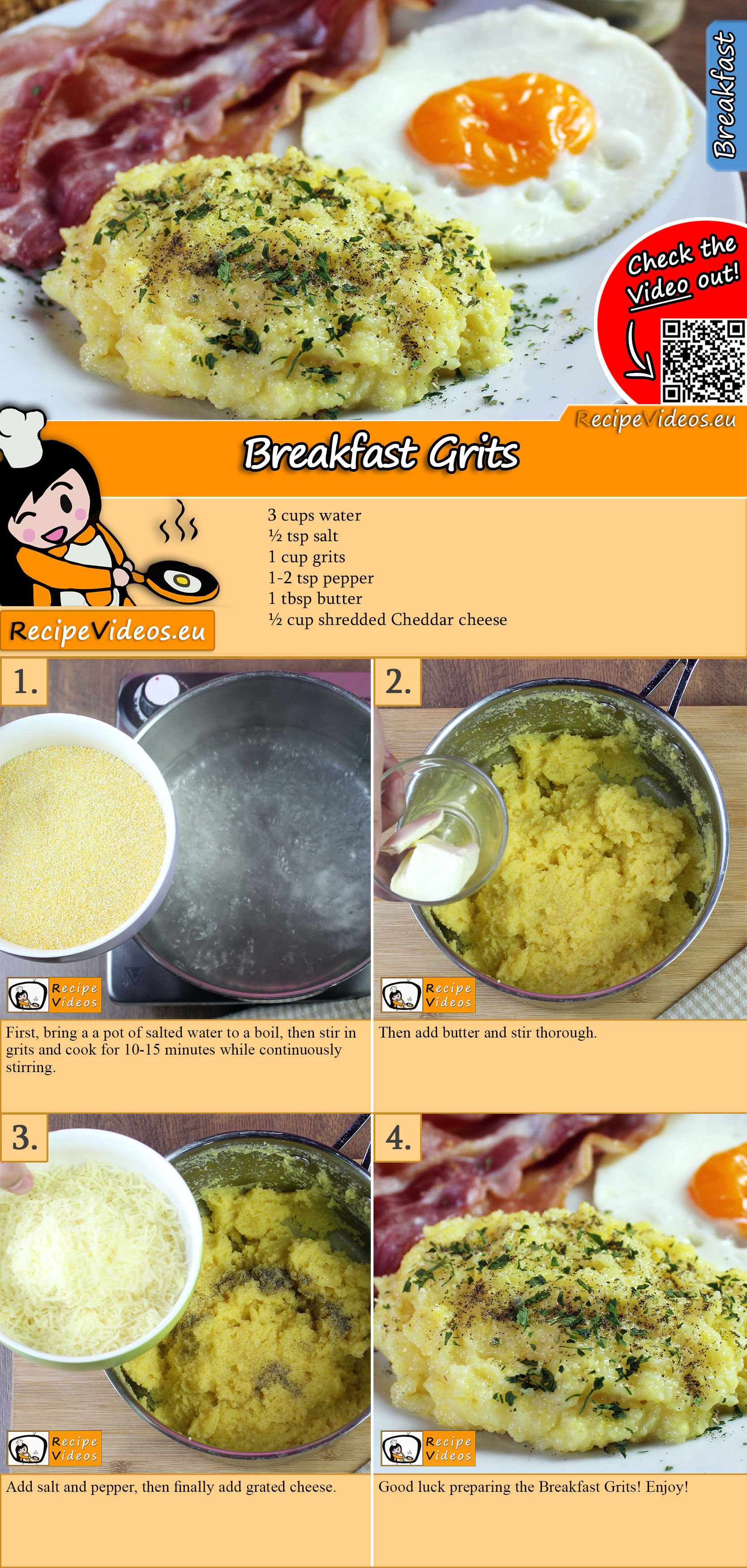 Breakfast grits recipe with video