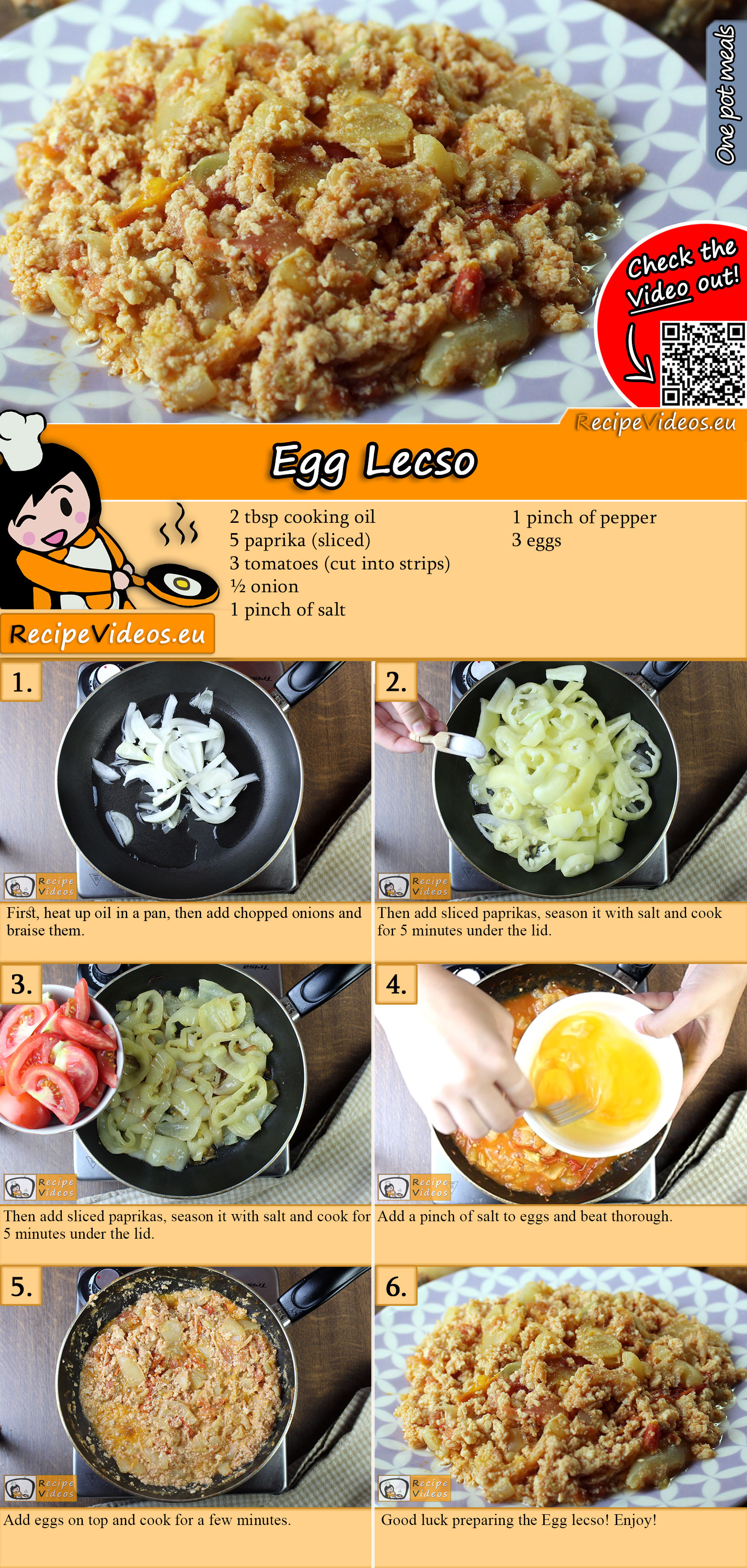 Egg Lecso recipe with video