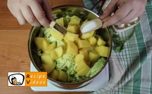 Savoy Cabbage With Potatoes recipe, prepping Savoy Cabbage With Potatoes step 2