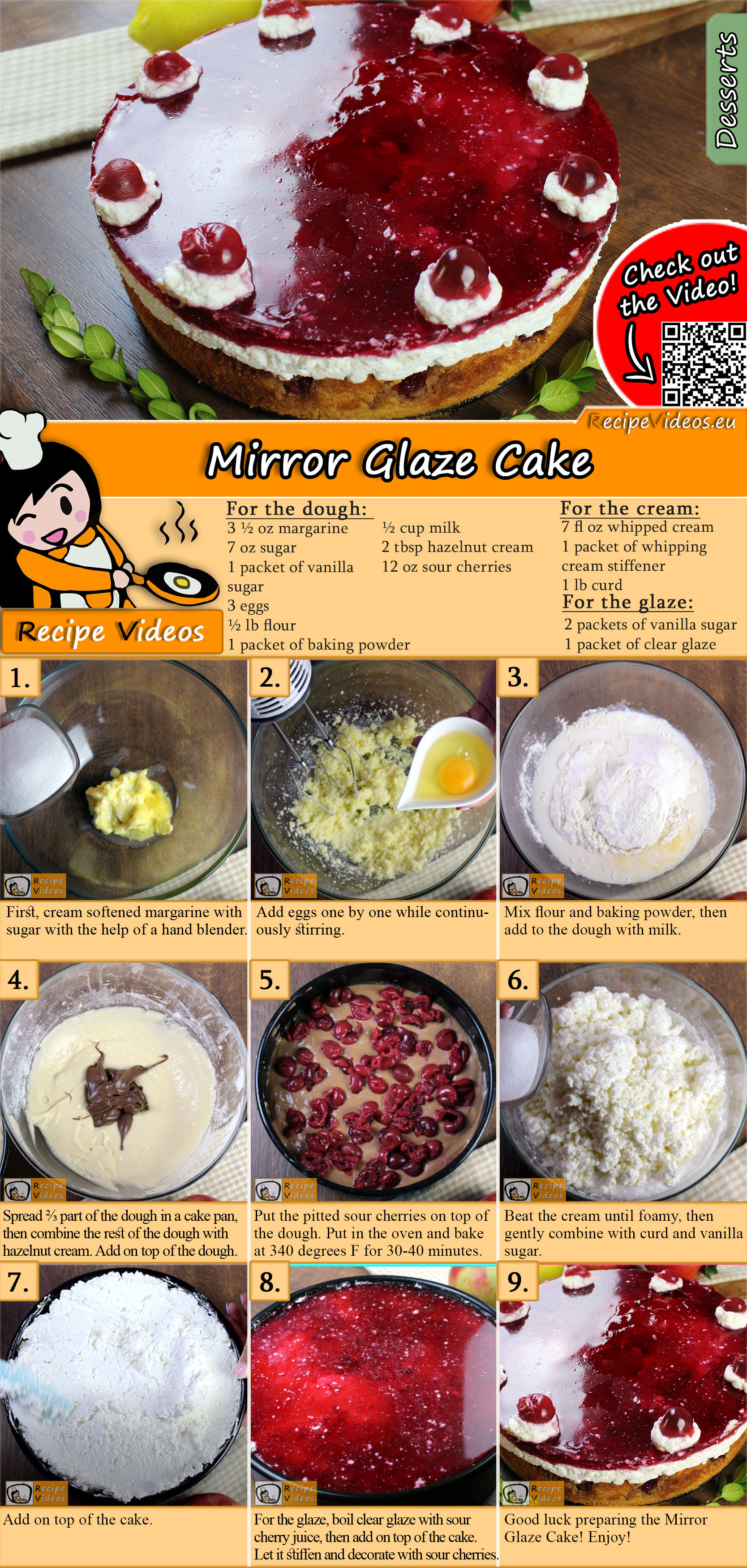 Snow White cake recipe with video