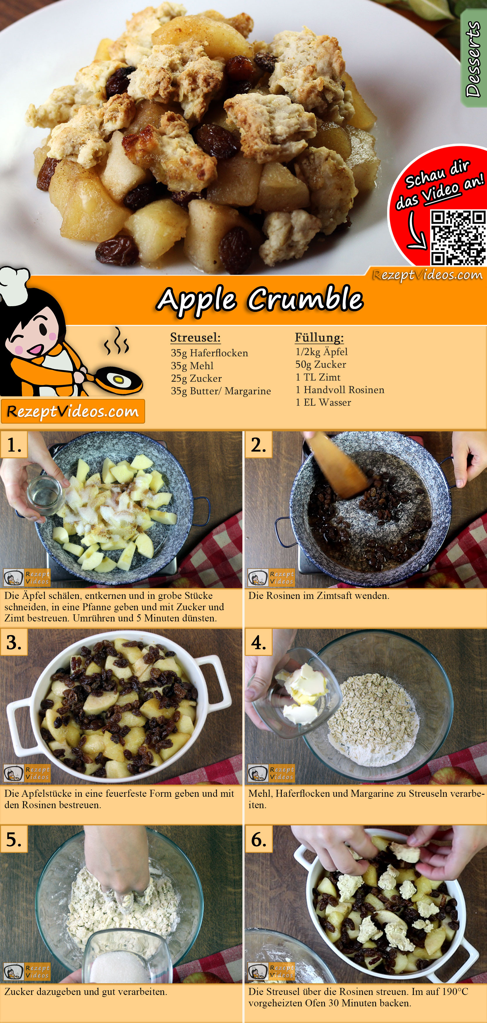 Apple Crumble recipe with video