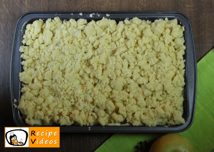 Apple Crumble Pie recipe, prepping Apple Crumble Pie step 6
