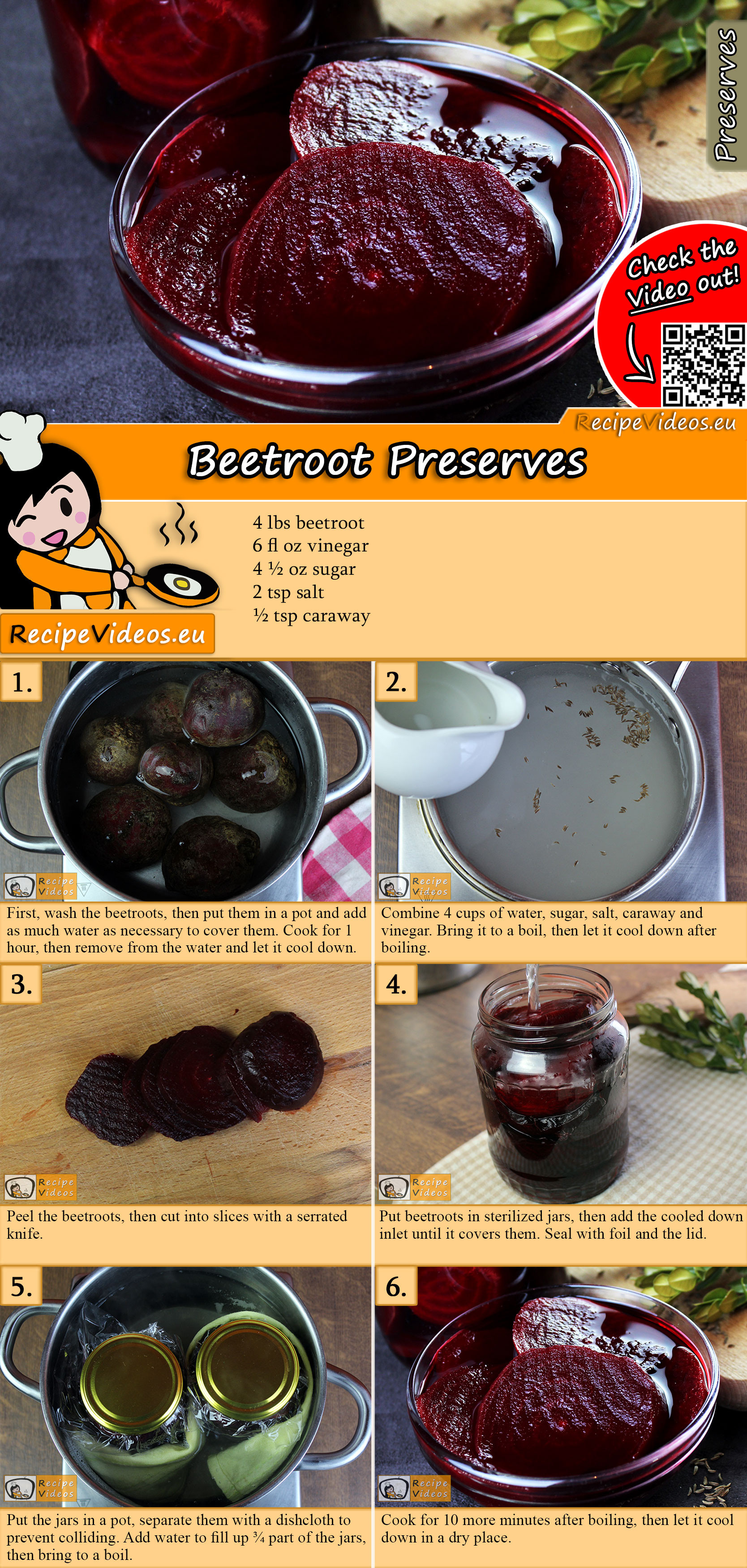 Beetroot Preserves recipe with video