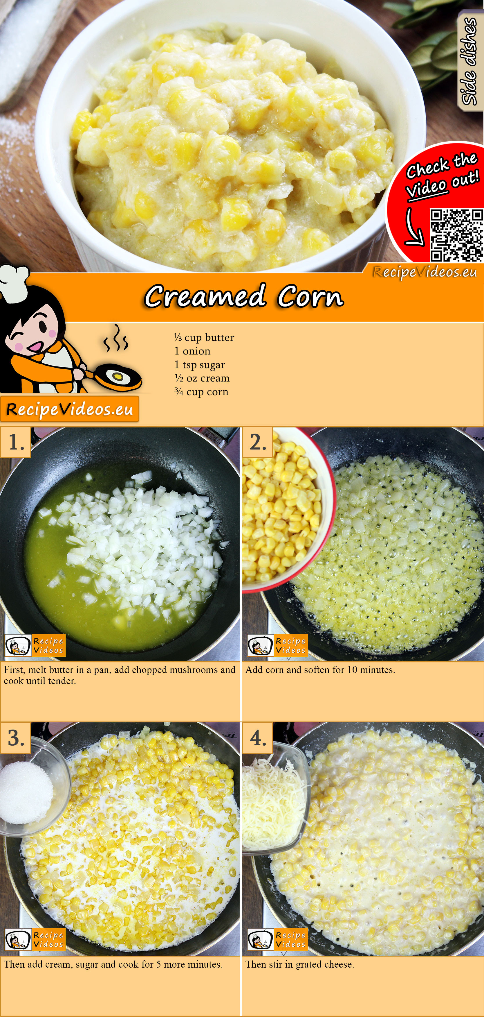 Creamed Corn recipe with video