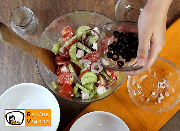 Greek Salad recipe, prepping Greek Salad step 4