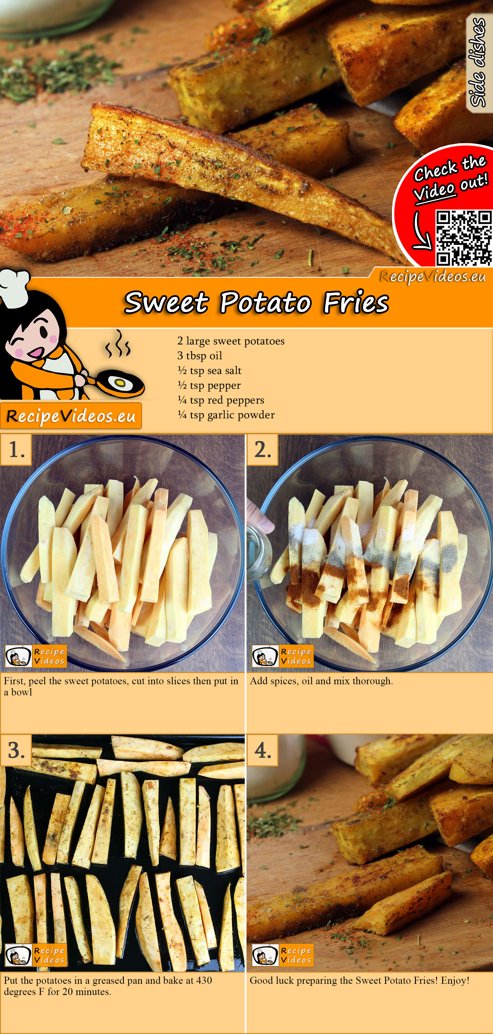 Sweet Potato Fries recipe with video