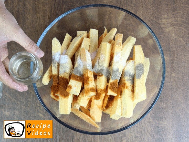 Sweet Potato Fries recipe, prepping Sweet Potato Fries step 2