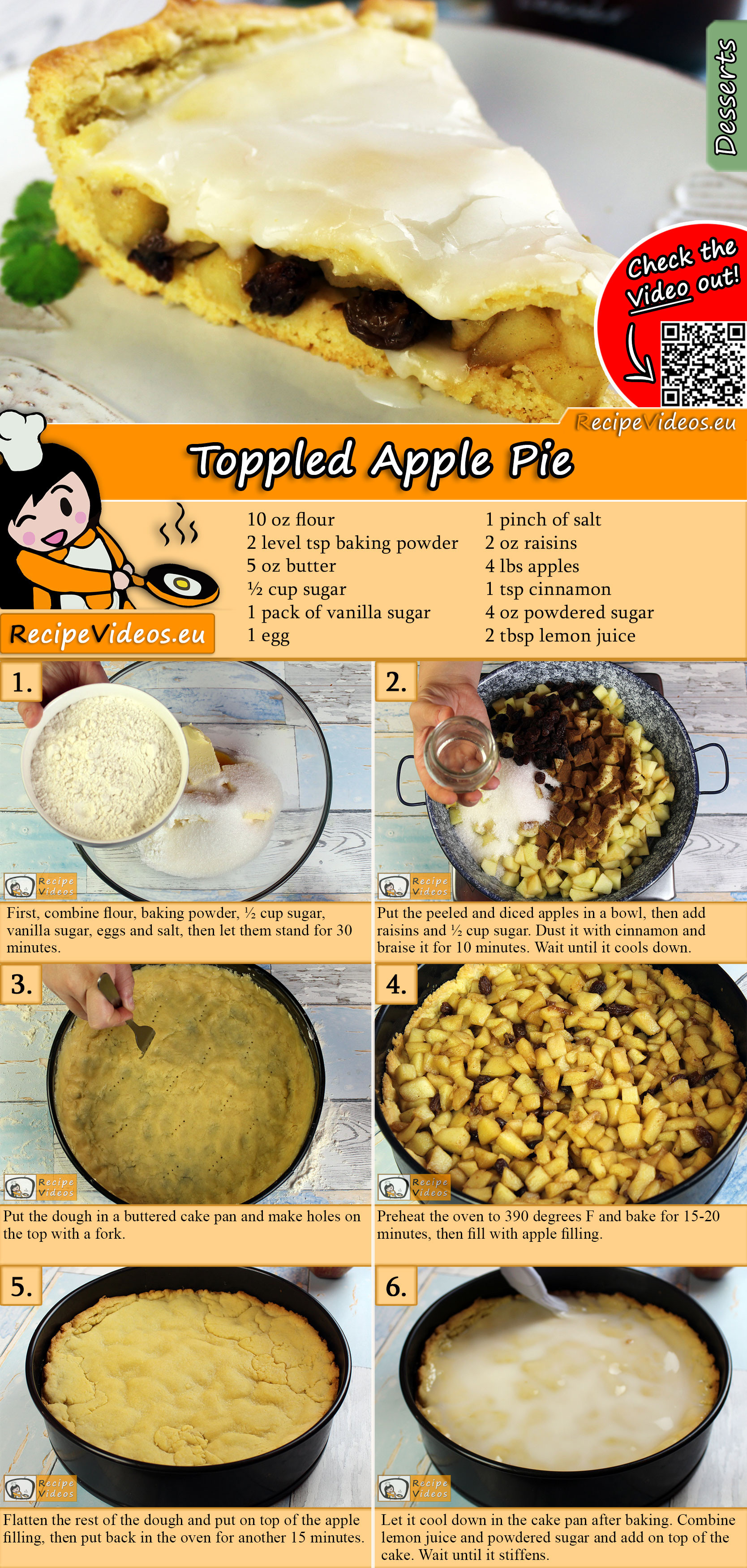 Topped Apple Pie recipe with video
