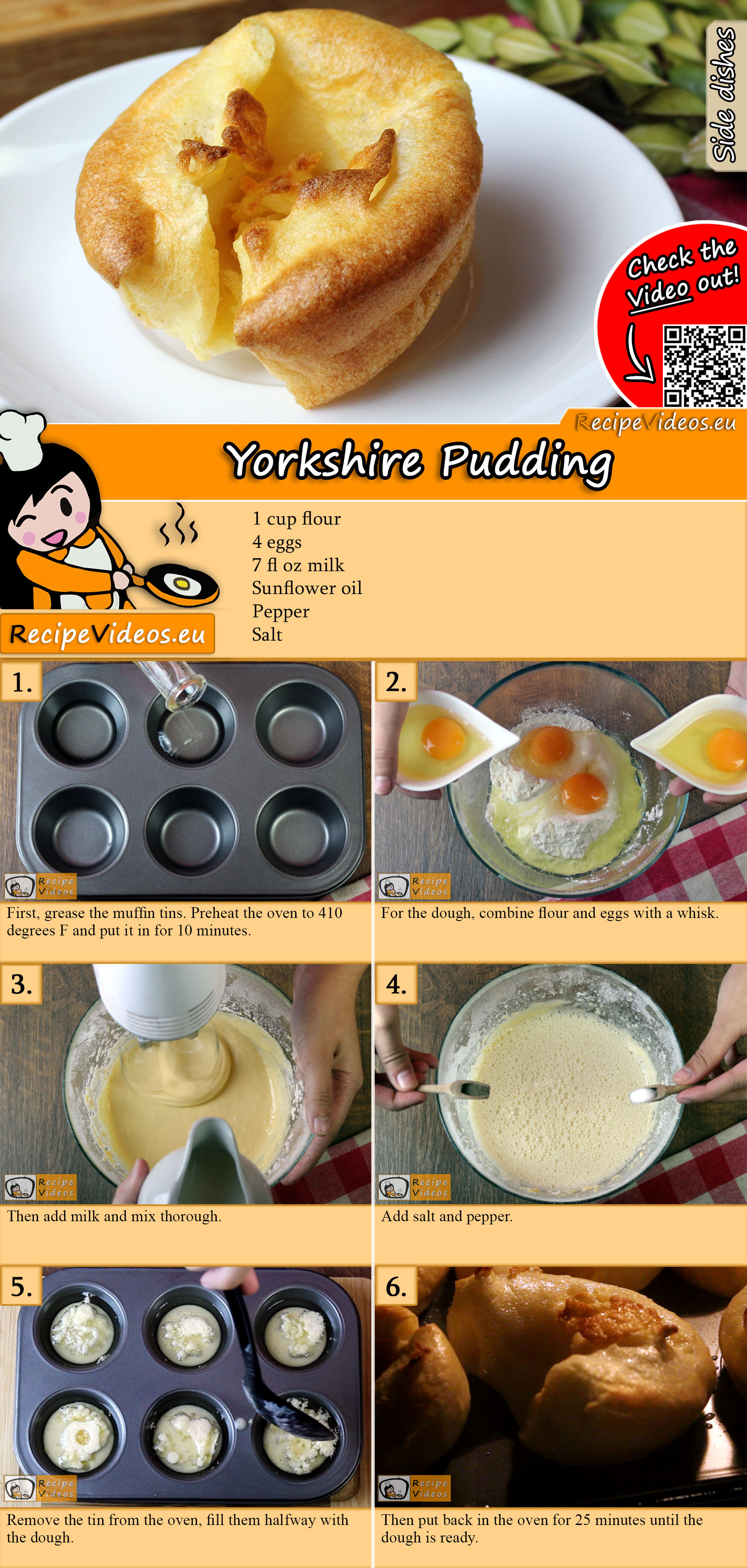 Yorkshire Pudding recipe with video