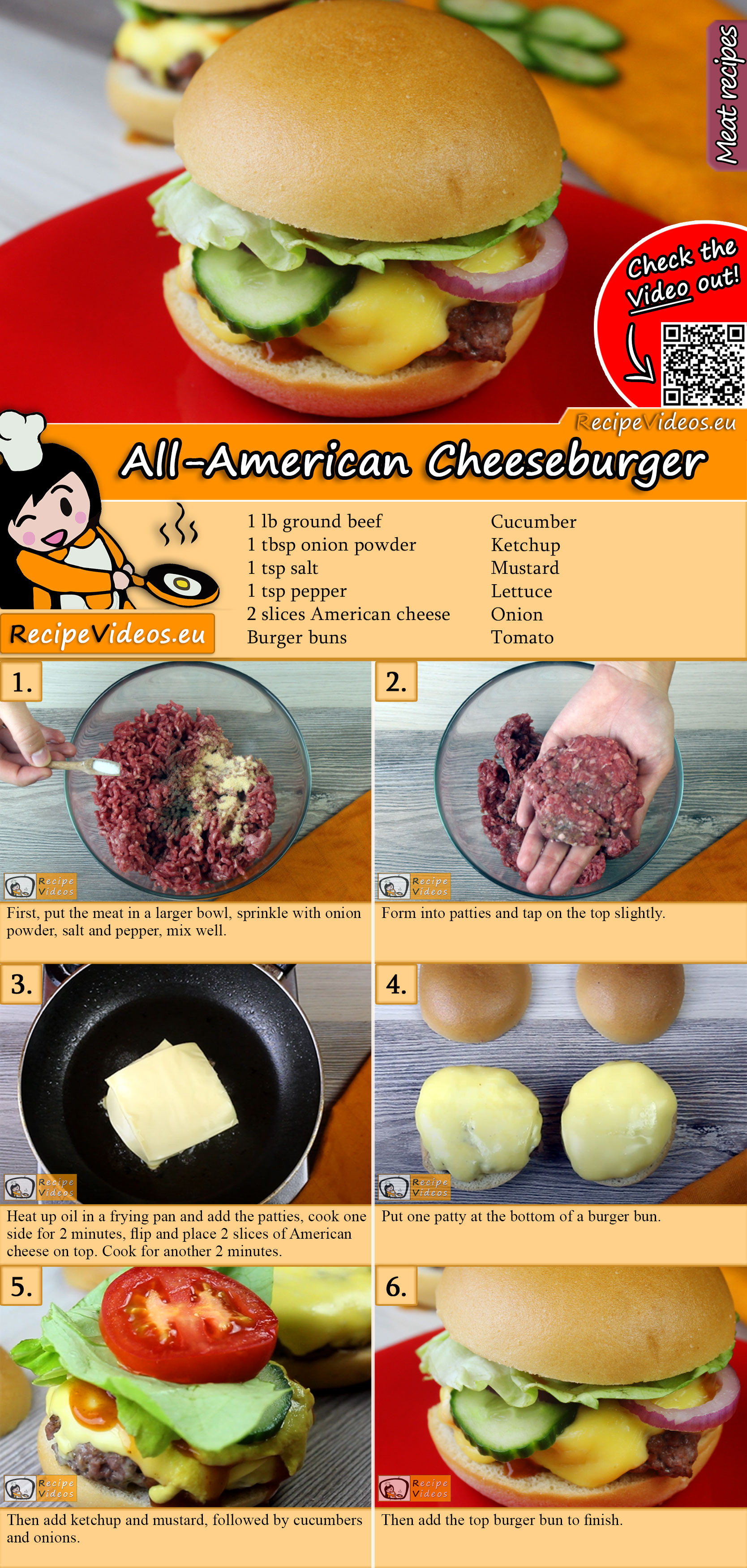All-American Cheeseburger recipe with video