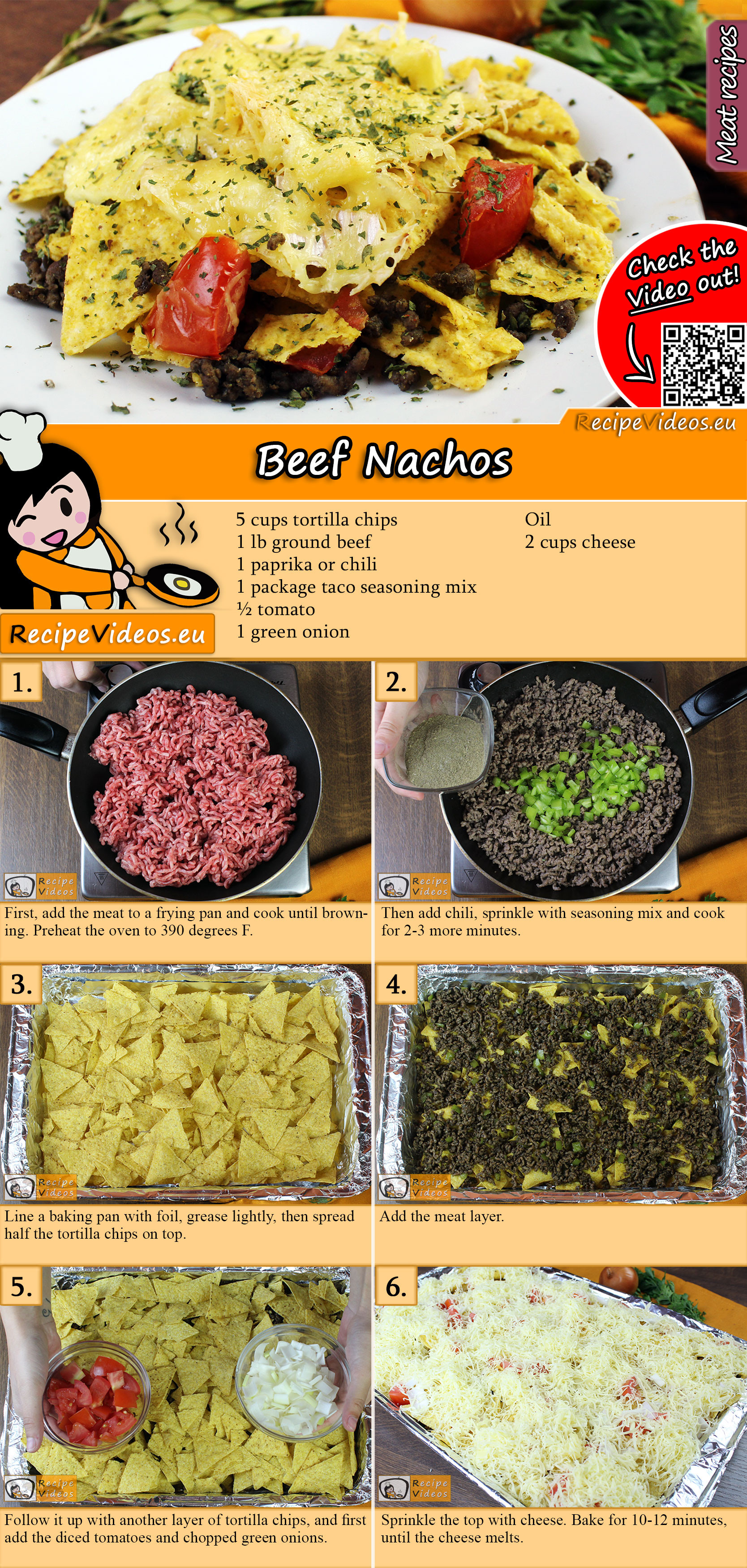 Beef Nachos recipe with video