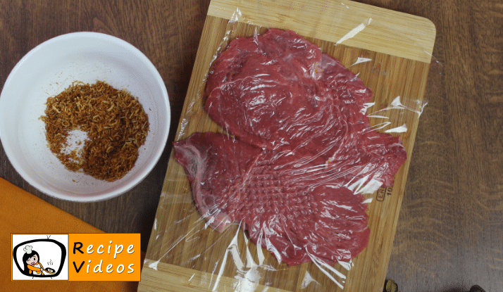 Beef Stroganoff recipe, prepping Beef Stroganoff step 2