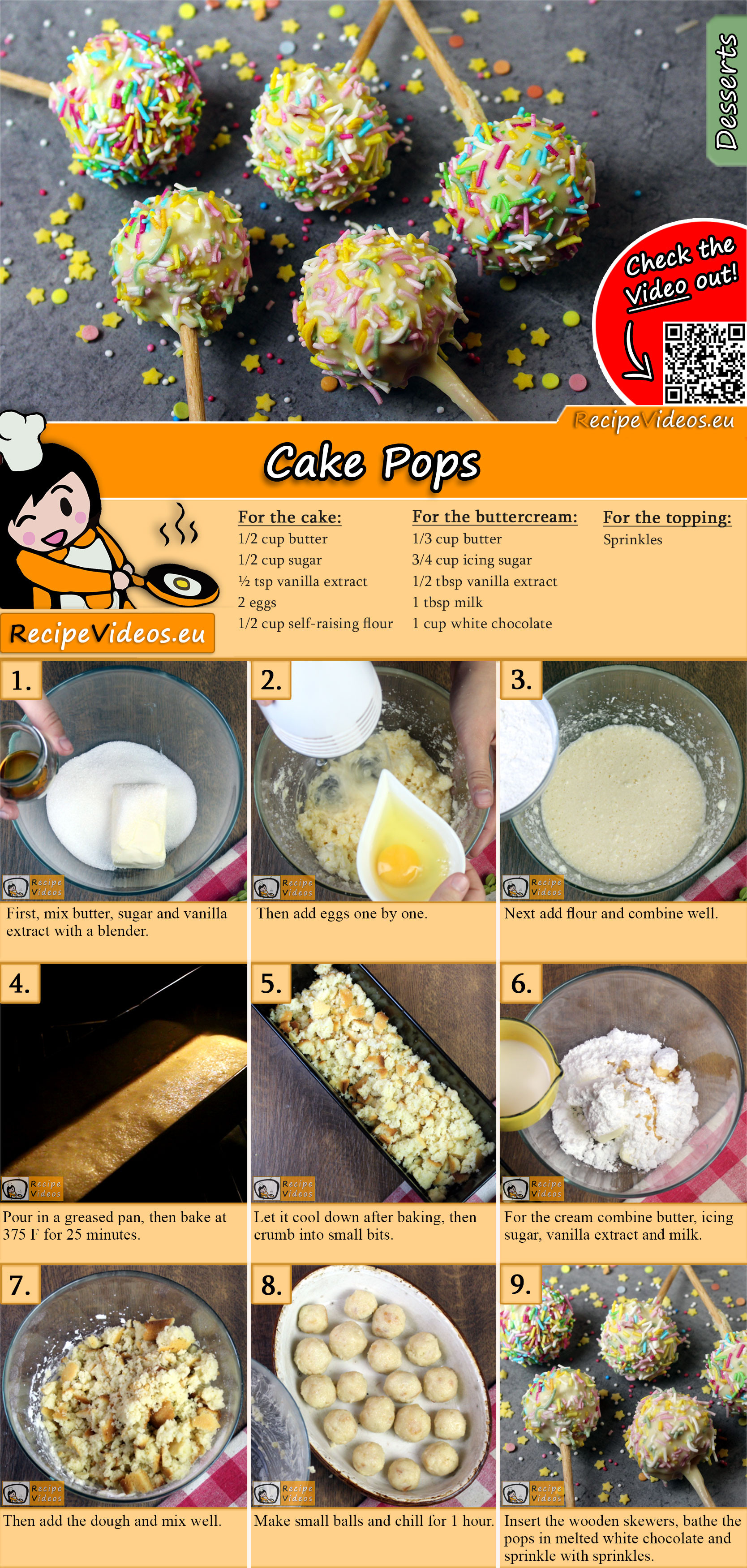 Cake Pops recipe with video