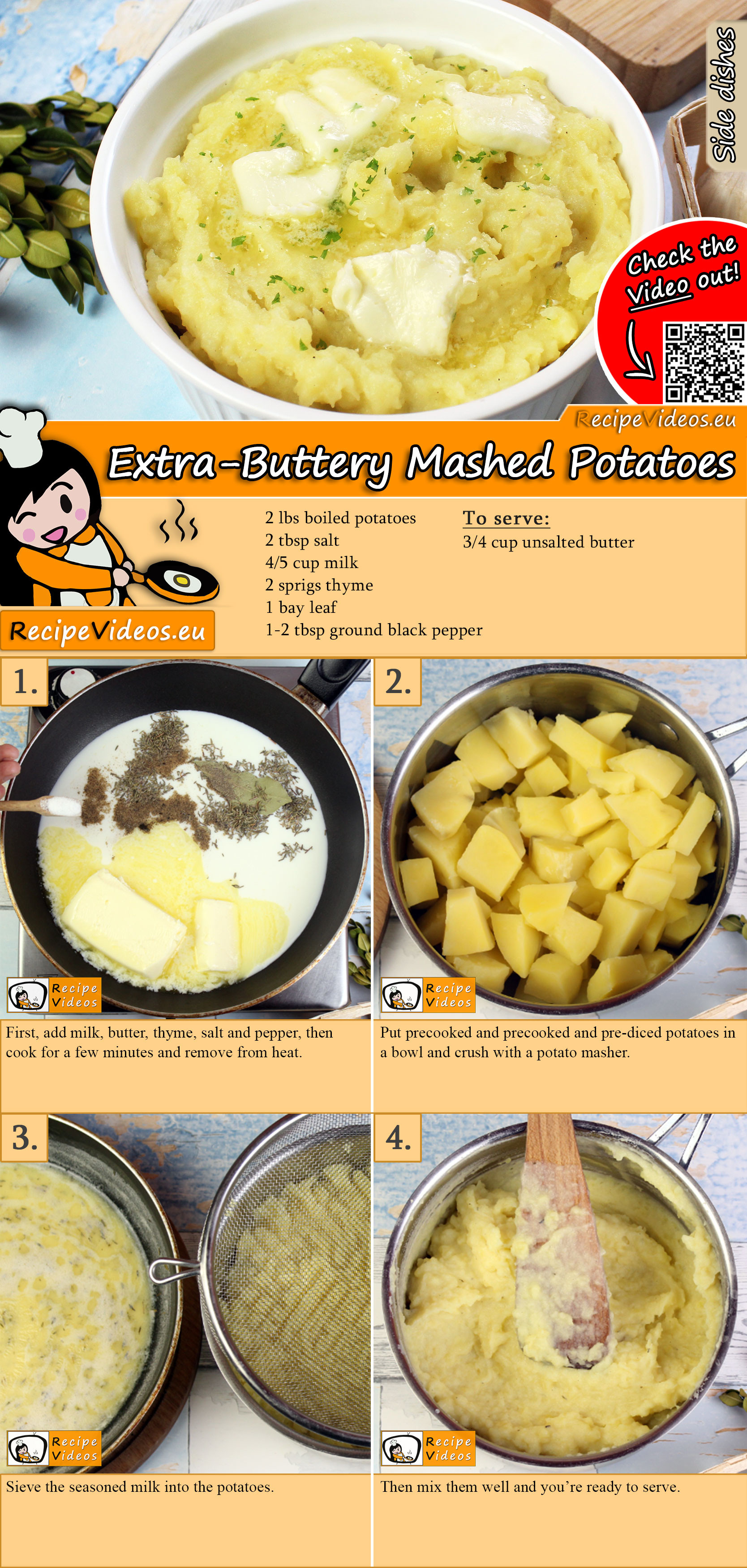 Extra-Buttery Mashed Potatoes recipe with video