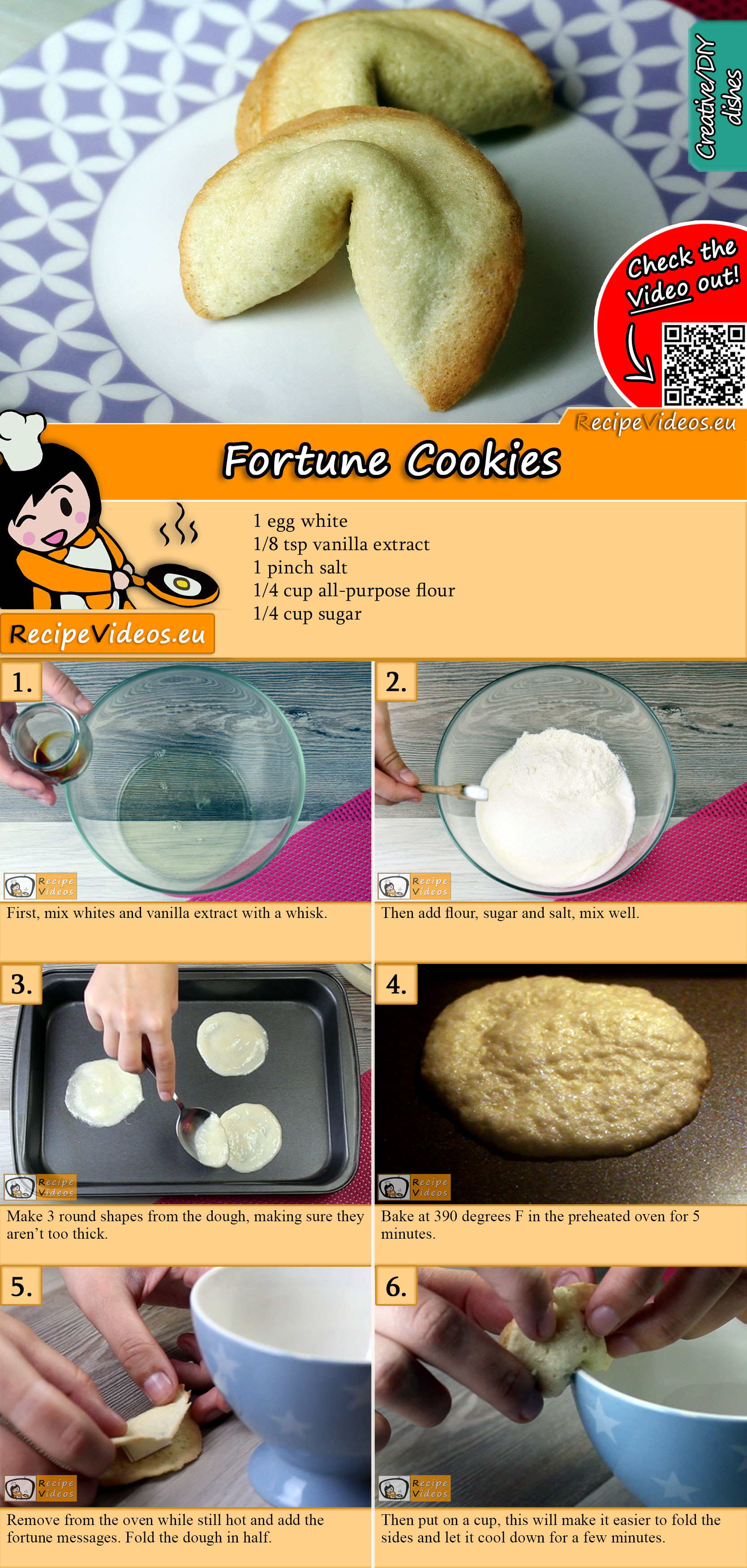 Fortune Cookies recipe with video