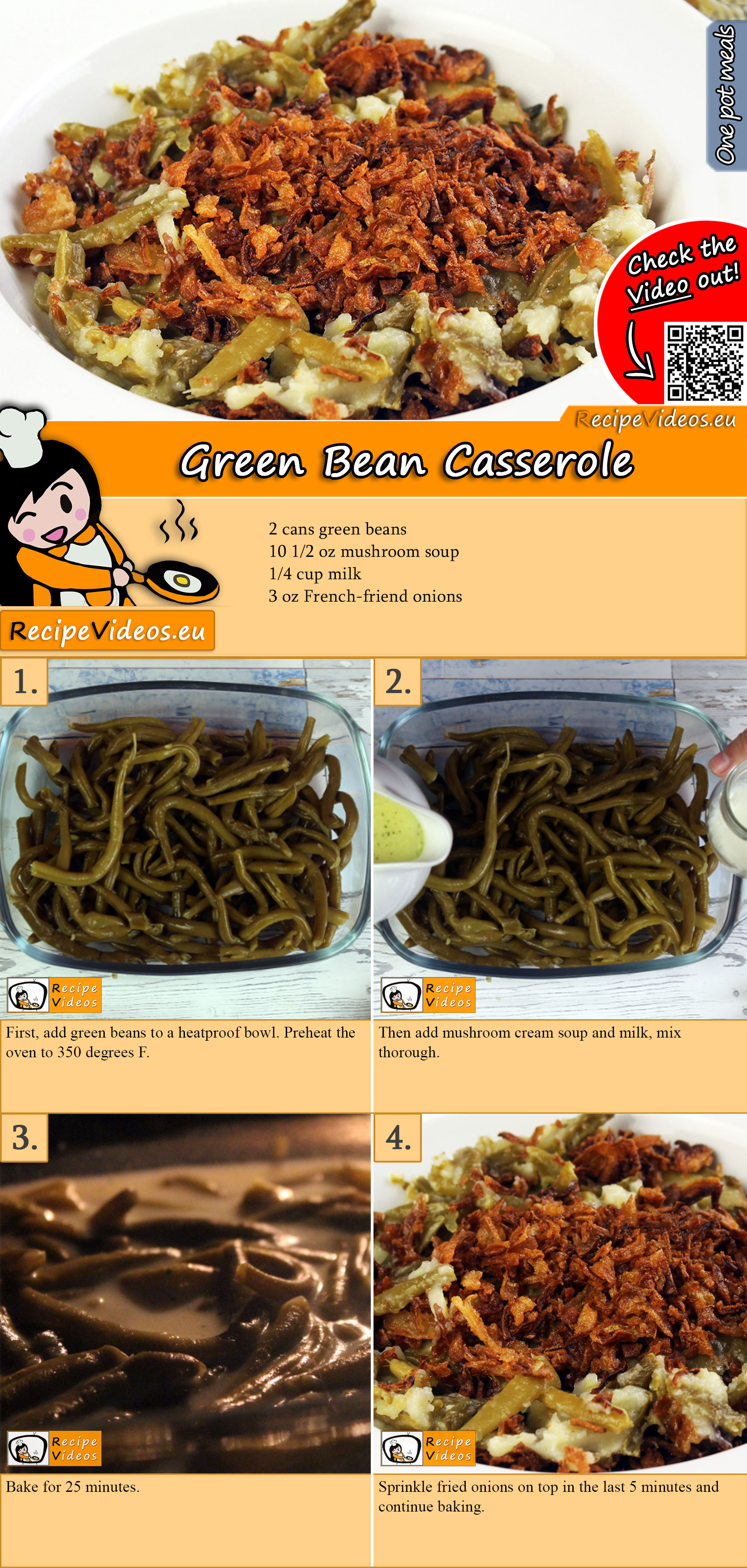 Green Bean Casserole recipe with video