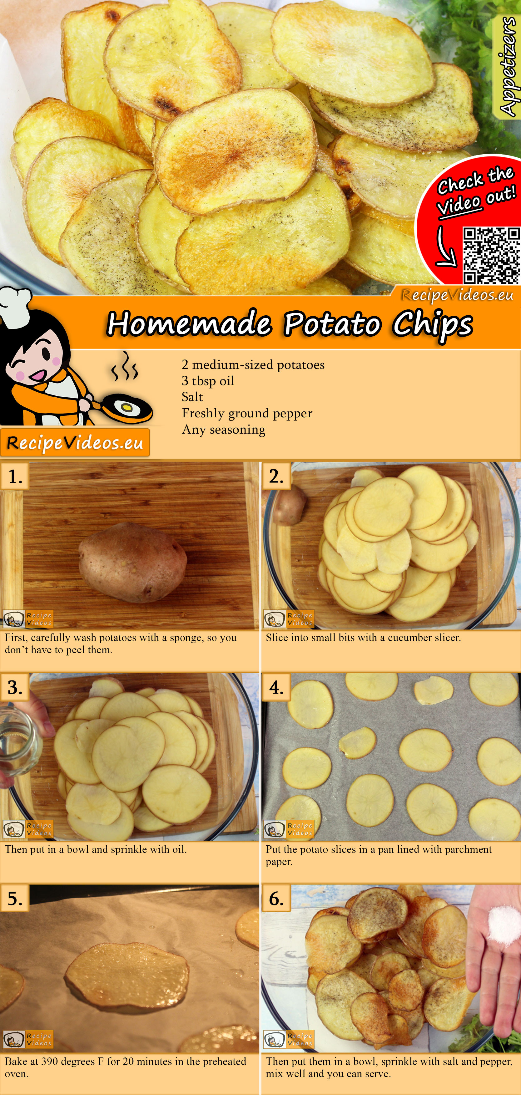 Homemade Potato Chips recipe with video