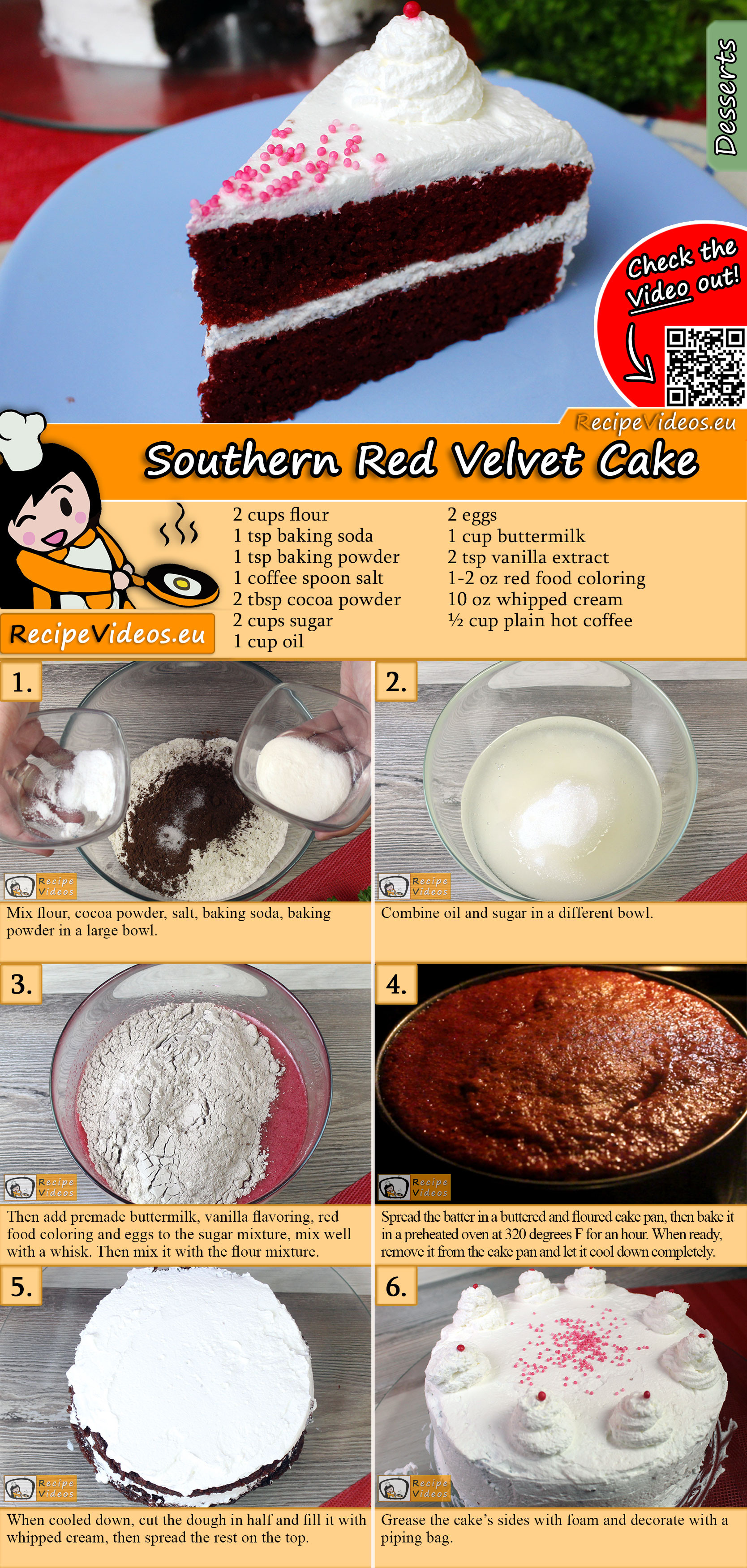 Southern Red Velvet Cake recipe with video