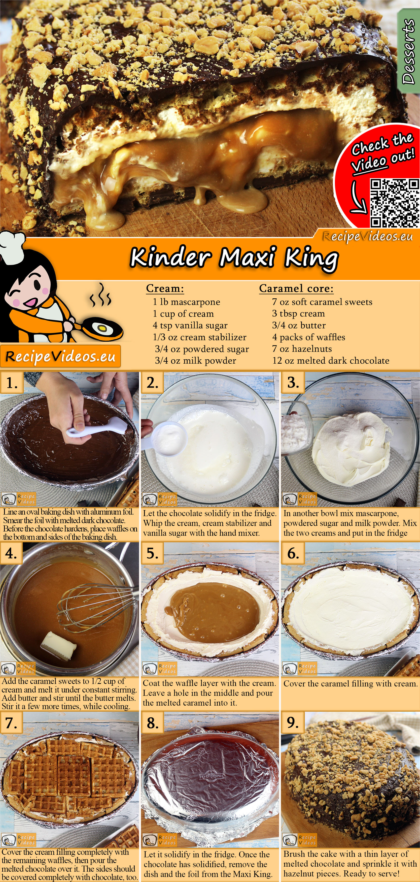Kinder Maxi King recipe with video