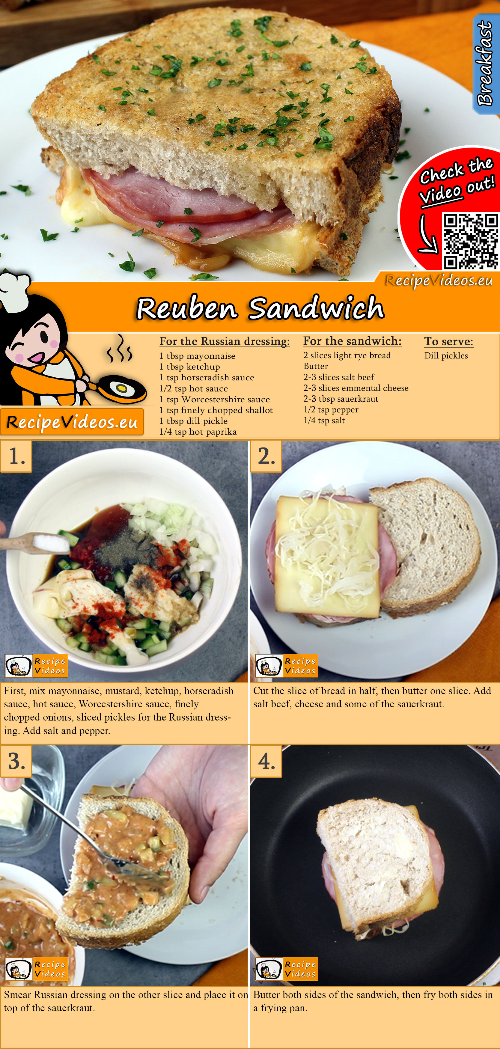 Reuben Sandwich recipe with video