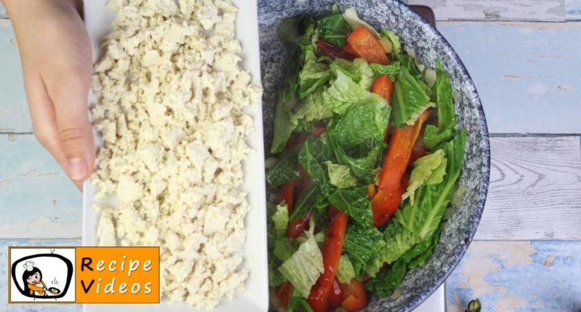 Vegetable Tofu recipe, prepping Vegetable Tofu step 4