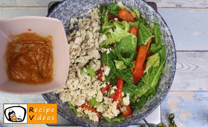 Vegetable Tofu recipe, how to make Vegetable Tofu step 5