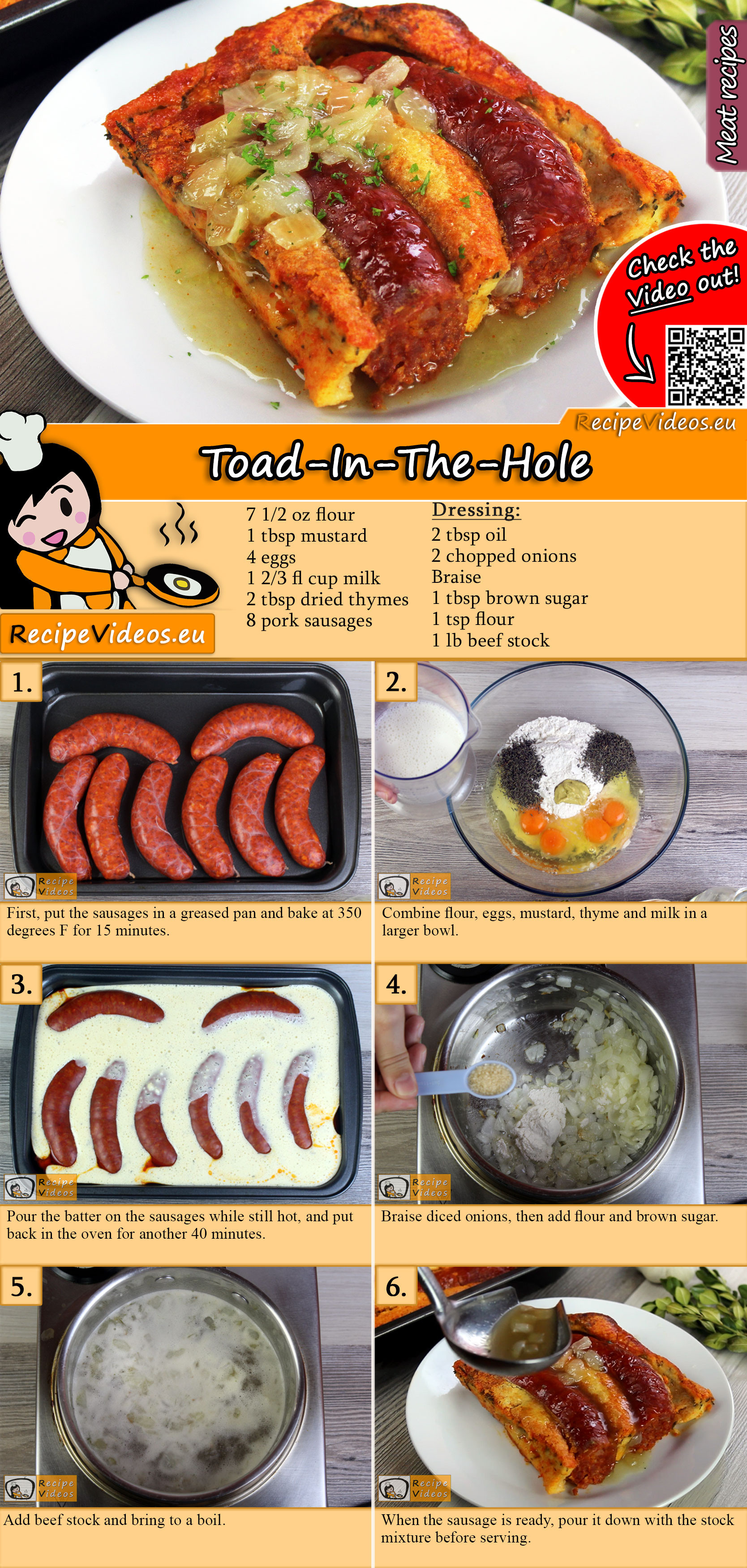 Toad-In-The-Hole recipe with video