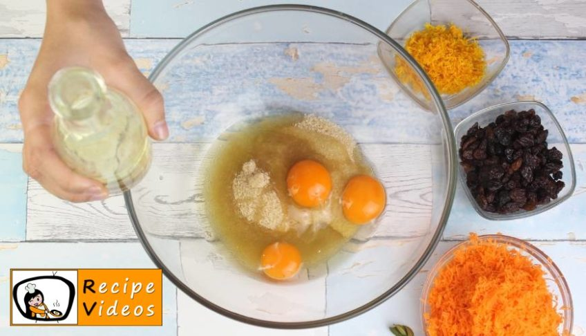 Yummy Carrot Cake recipe, prepping Yummy Carrot Cake step 1